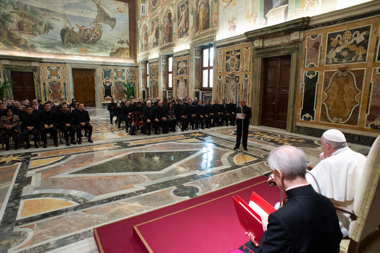 Audiencia a los miembros del Pontifico Colegio Pio Latinoamericano © Vatican Media
