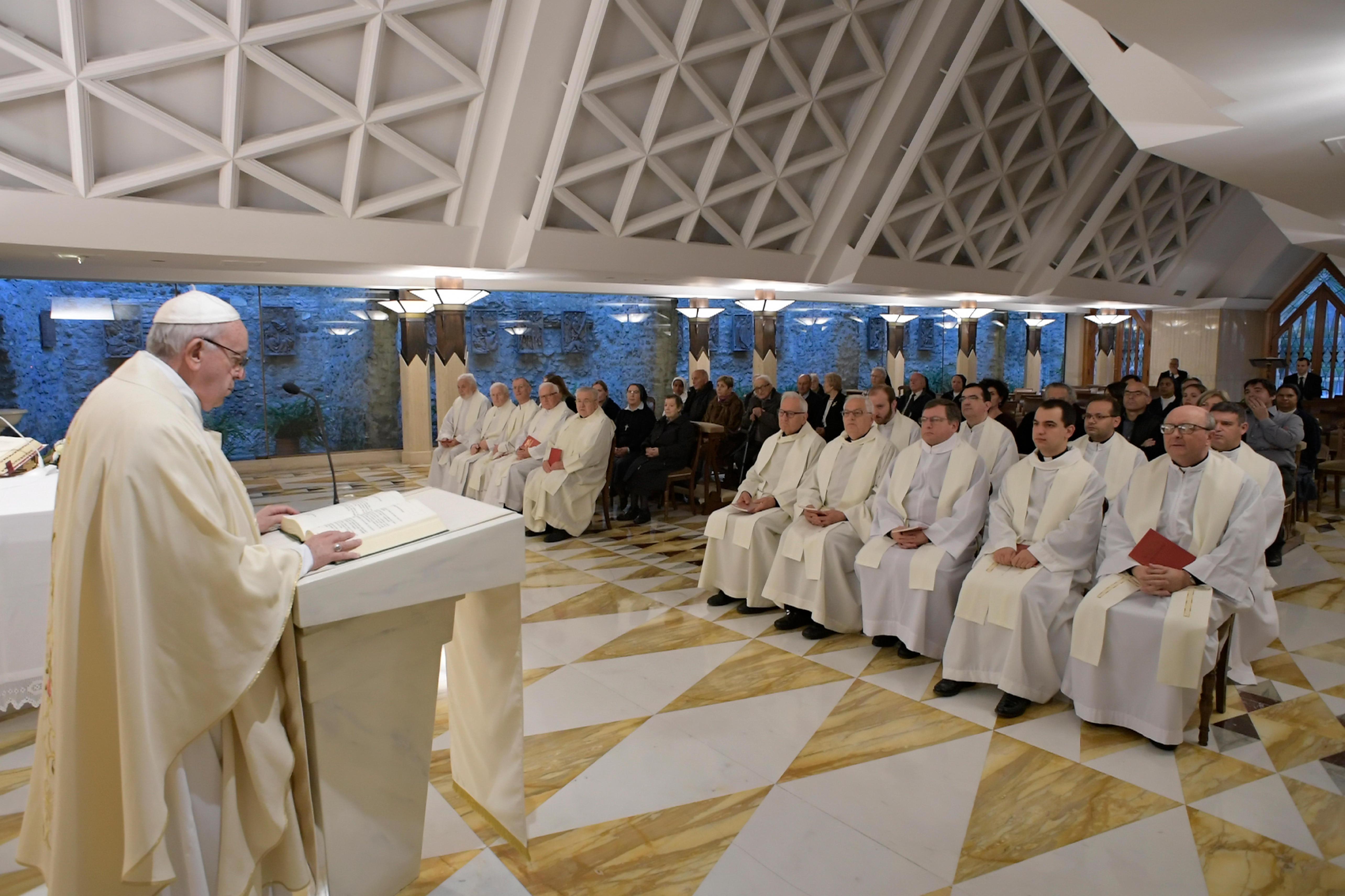 Homilía del Santo Padre, 9 nov. 2018 © Vatican Media