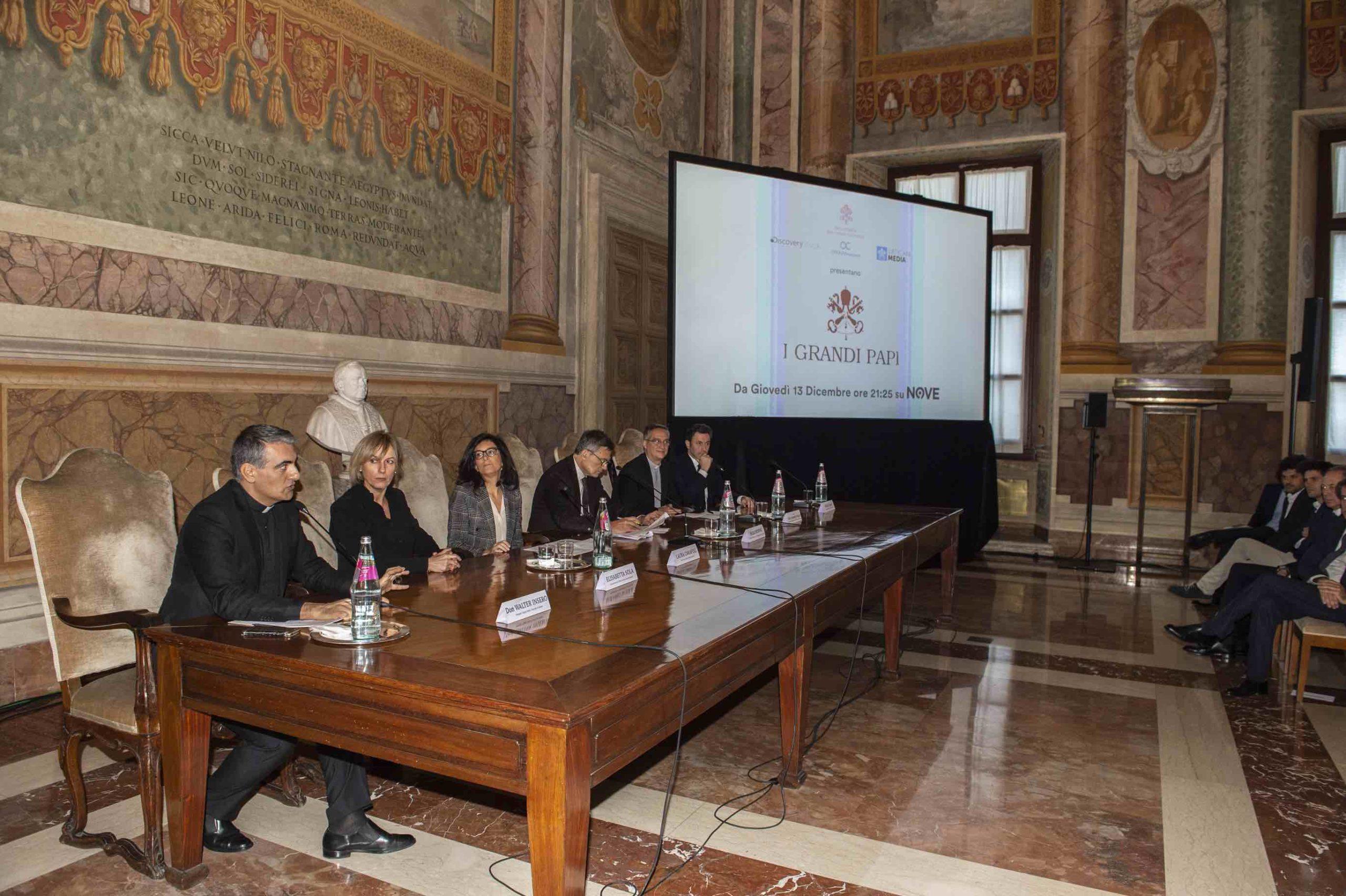 Presentación de 'Los grandes papas' © Dicasterio para la Comunicación de la Santa Sede - Discovery Italia