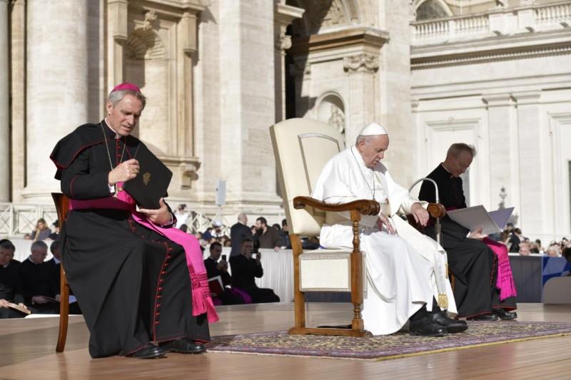 El Papa reflexiona sobre el 7º mandamiento en la audiencia general © Vatican Media