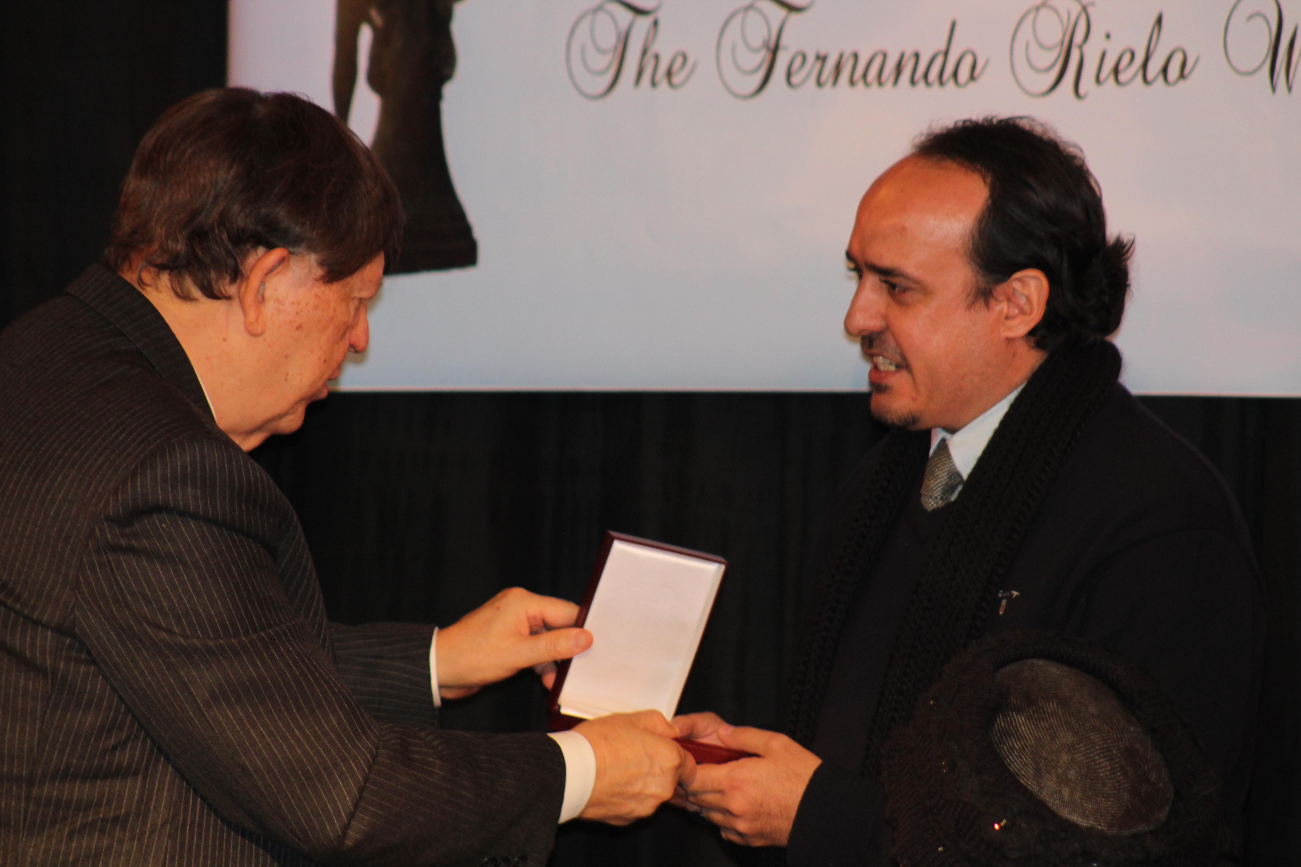 Entrega del Premio Fernando Rielo a Antonio Martín © Fundación Fernando Rielo