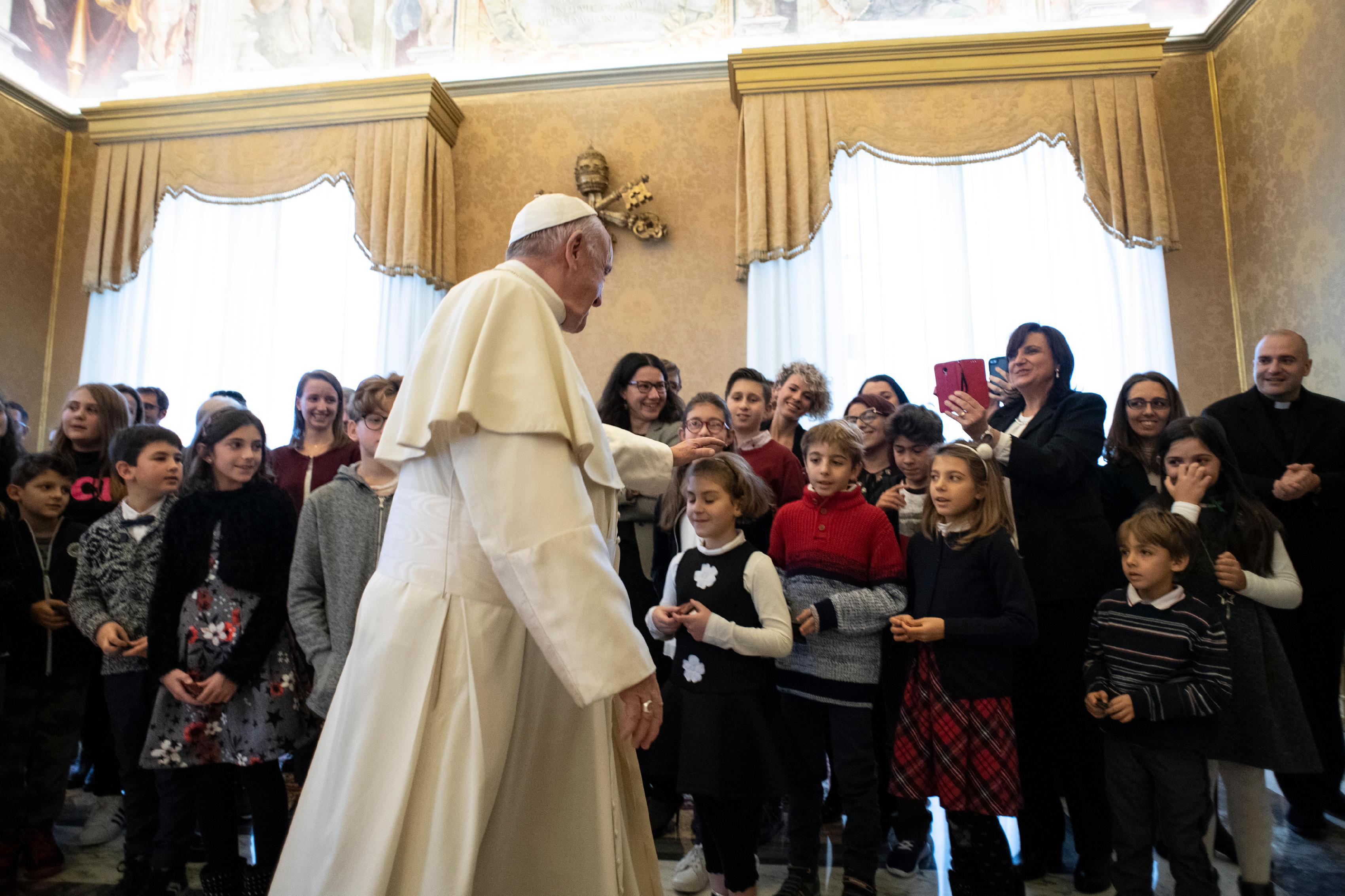 El Papa recibe a los chicos de Acción Católica Italiana © Vatican Media