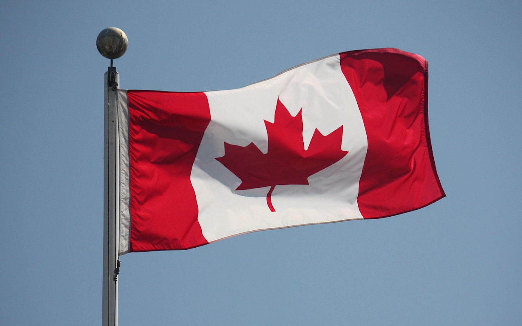 Bandera de Canadá. Wikimedia Commons