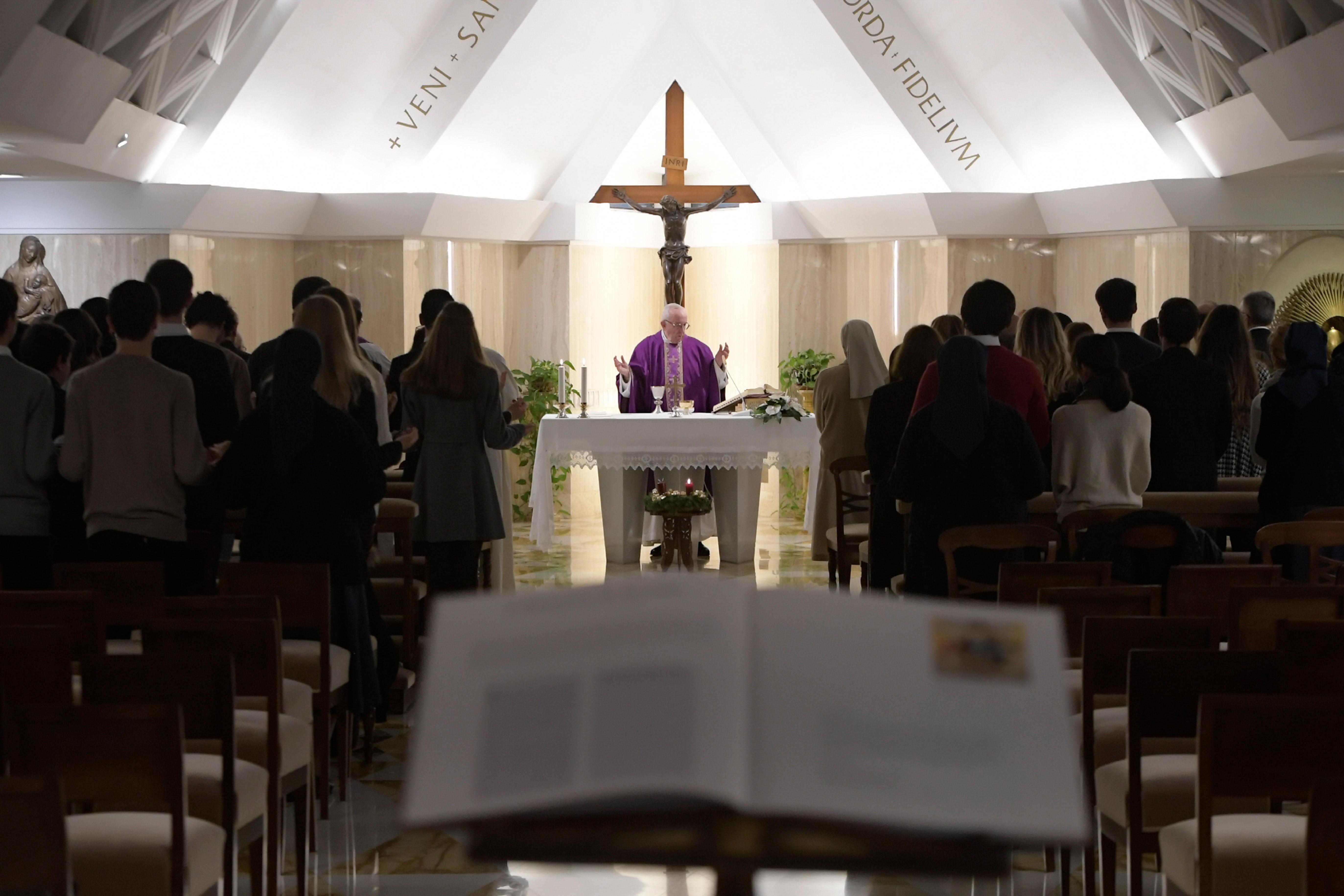 Misa del Papa en Adviento, 4 de diciembre de 2018 © Vatican Media