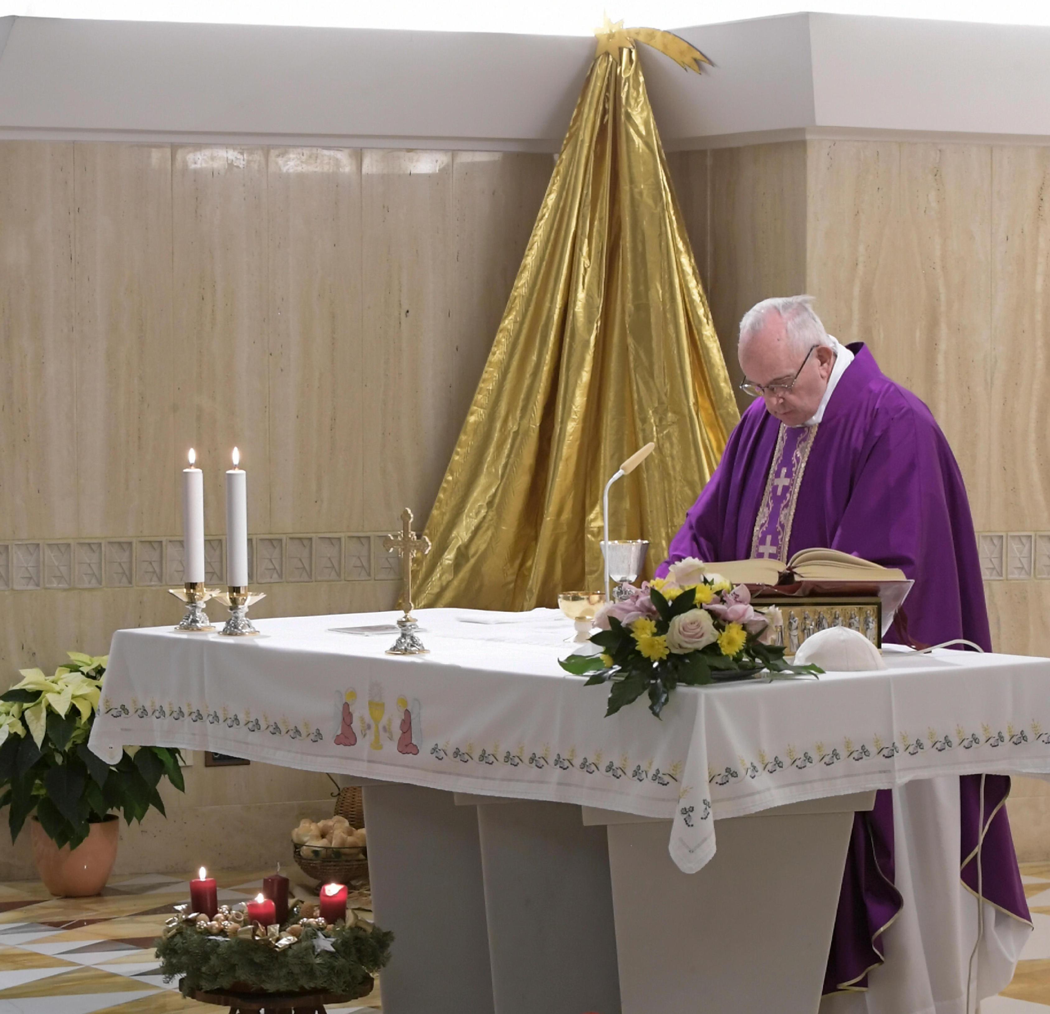 Misa en Santa Marta, 18 dic. 2018 © Vatican Media