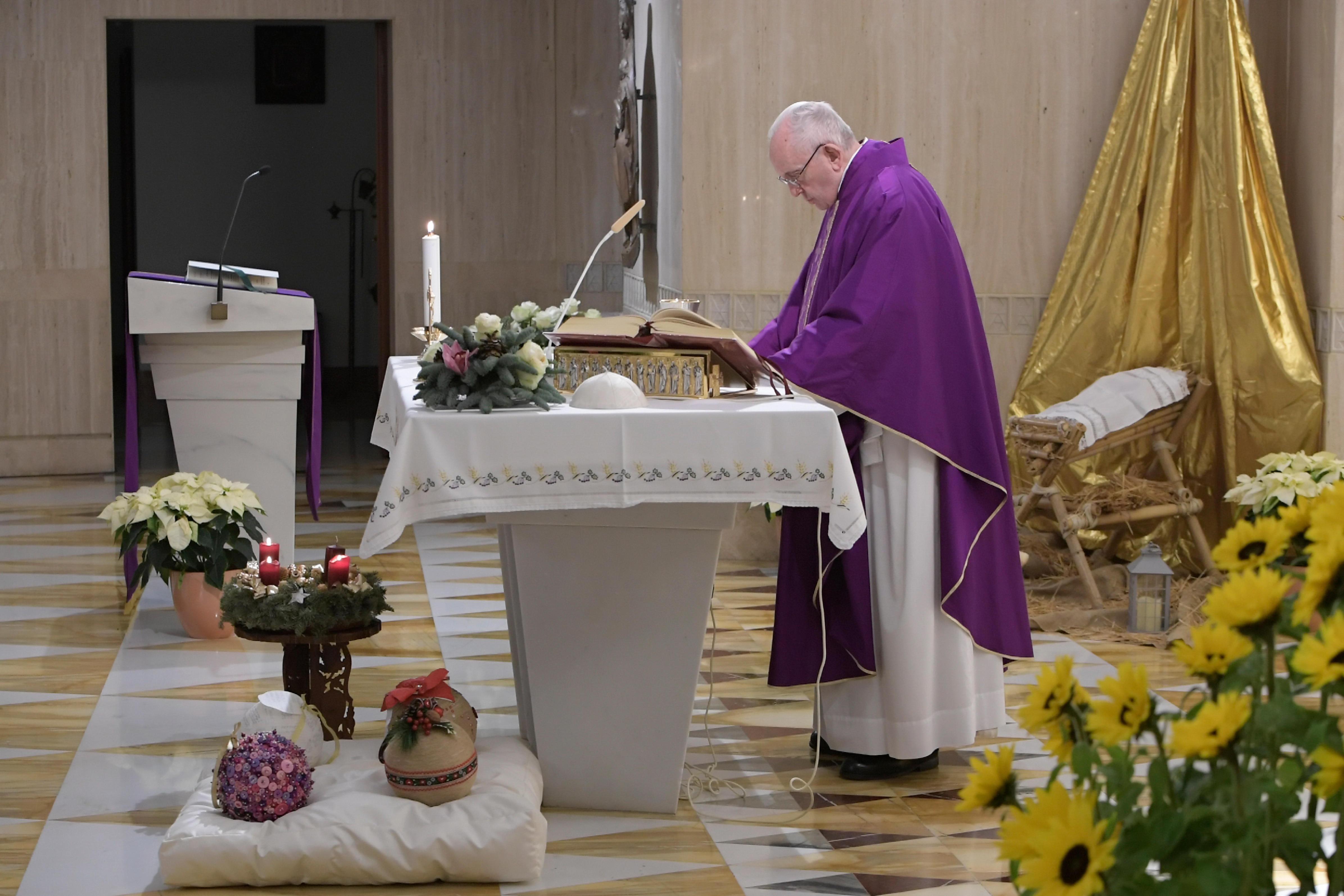 El Papa predica el Misterio de la Anunciación © Vatican Media