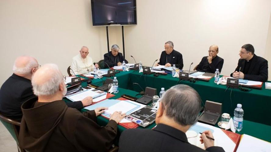 Consejo de Cardenales con el Papa Francisco, 10 dic. 2018 © Vatican Media