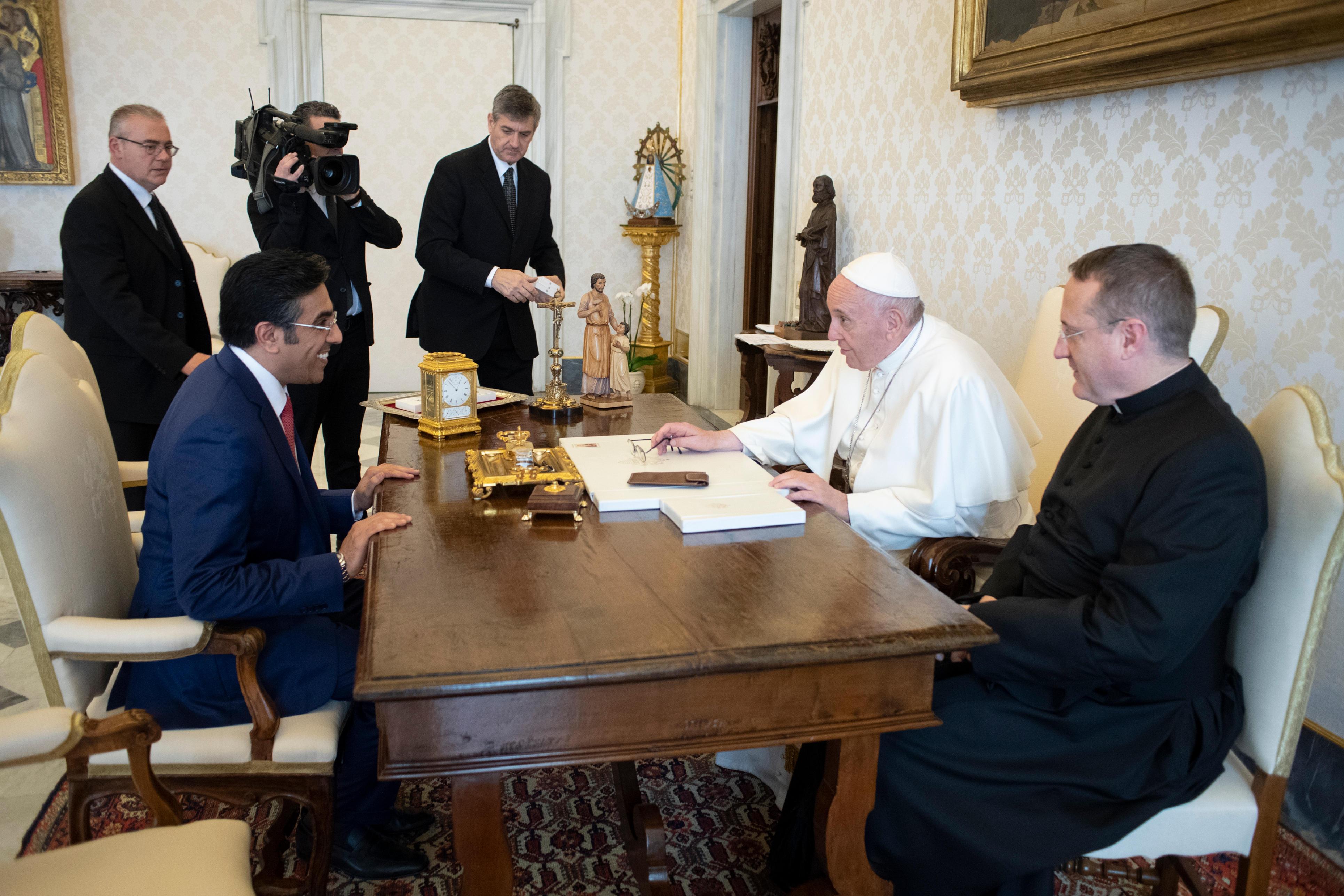 Ali Bin Smaikh Al Marri, Presidente de NHRC, Qatar© Vatican Media