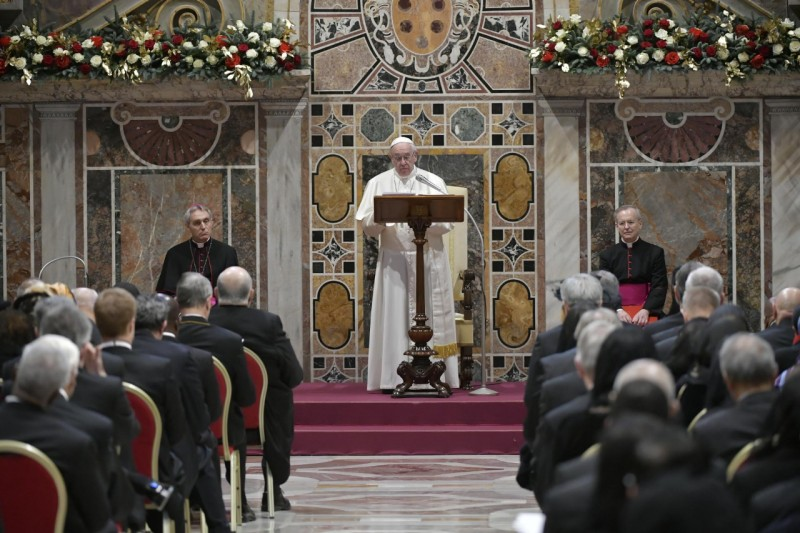 Discurso del Papa al Cuerpo Diplomático, 7 enero 2019 © Vatican Media