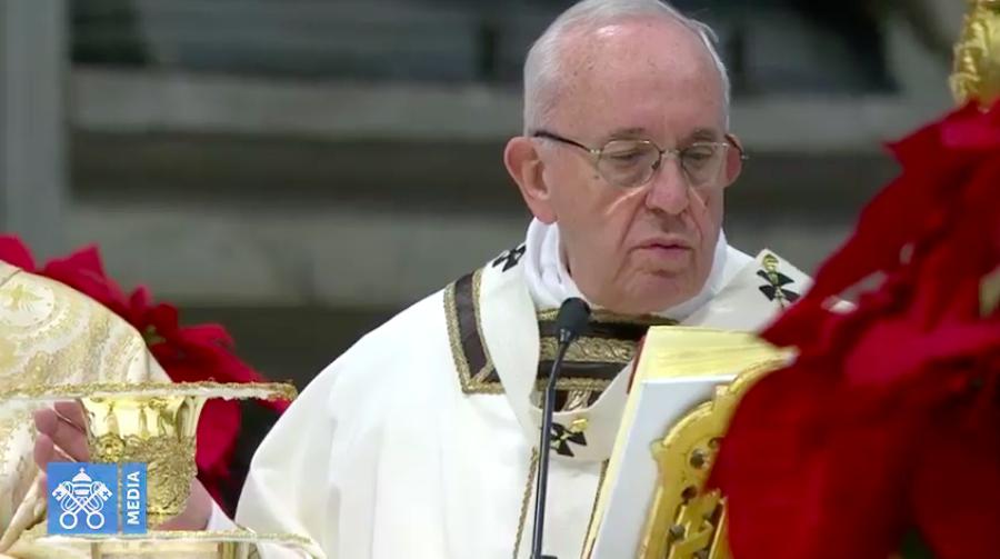 Francisco celebra la Eucaristía en la Epifanía del Señor, 6 enero 2019. Captura de pantalla Vatican Media