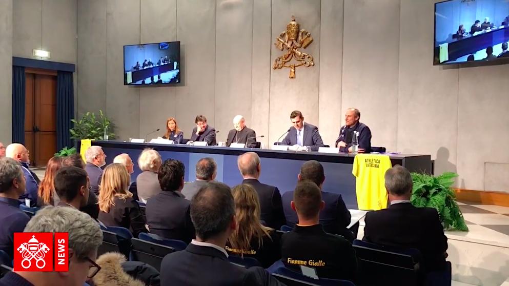 Presentación 'Athletica Vaticana'. Captura de pantalla Vatican Media