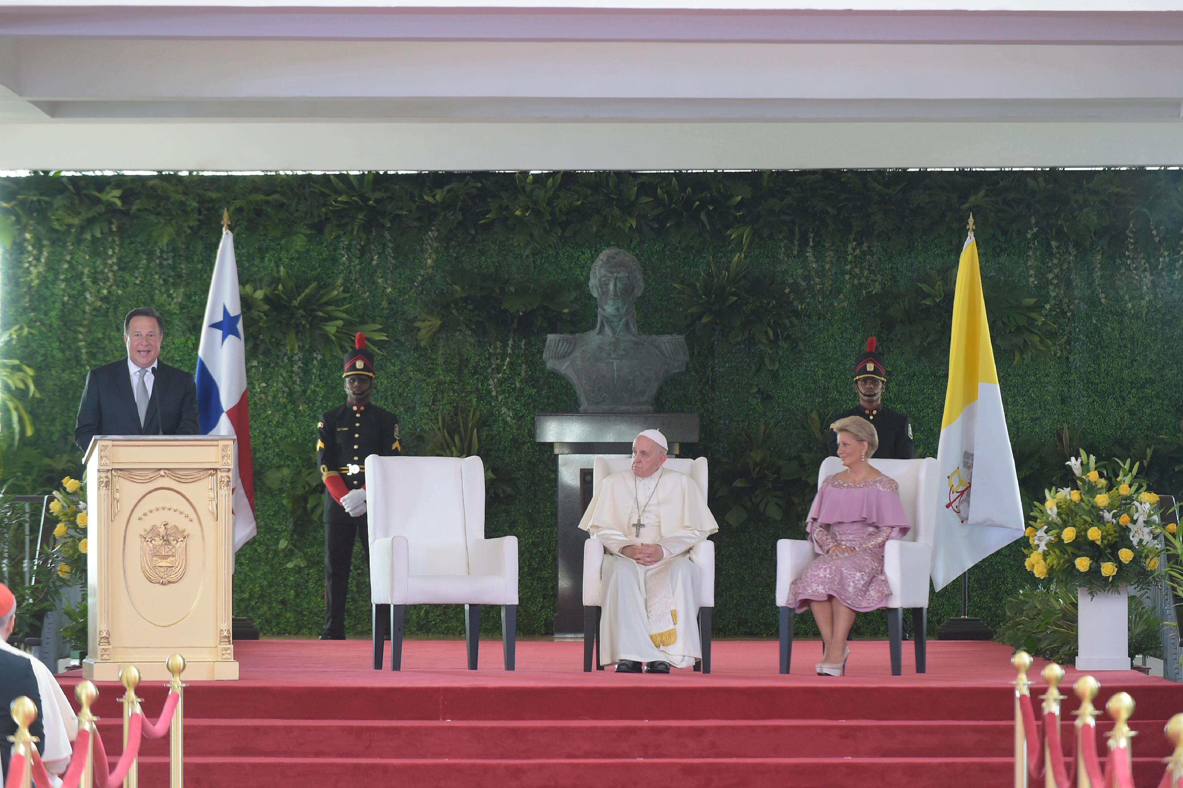 Discurso del presidente de la República de Panamá © Vatican News
