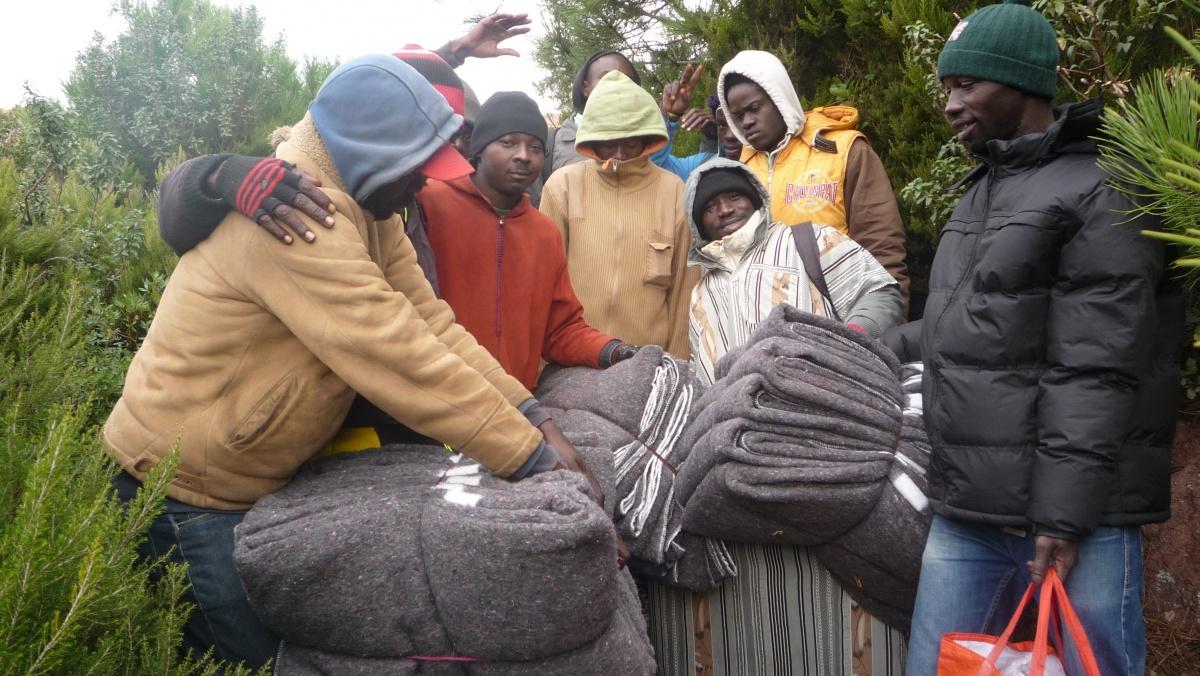 Inmigrantes subsaharianos en Marruecos © Manos Unidas