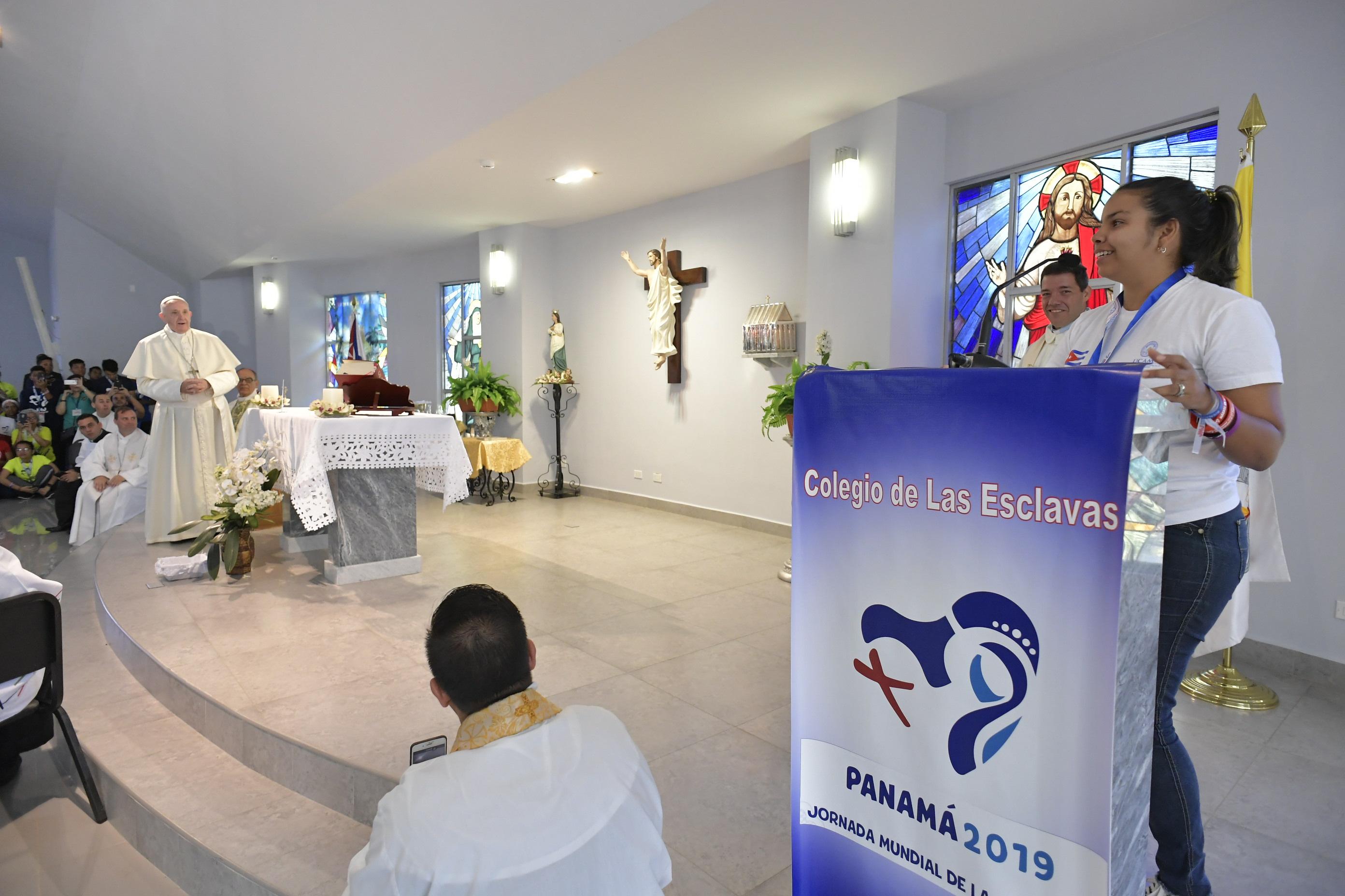 Liturgia penitencial del Papa en Panamá © Vatican Media