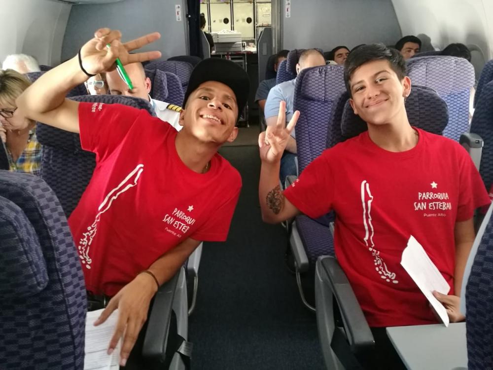Primeros peregrinos chilenos en viajar a la JMJ de Panamá © Conferencia Episcopal de Chile