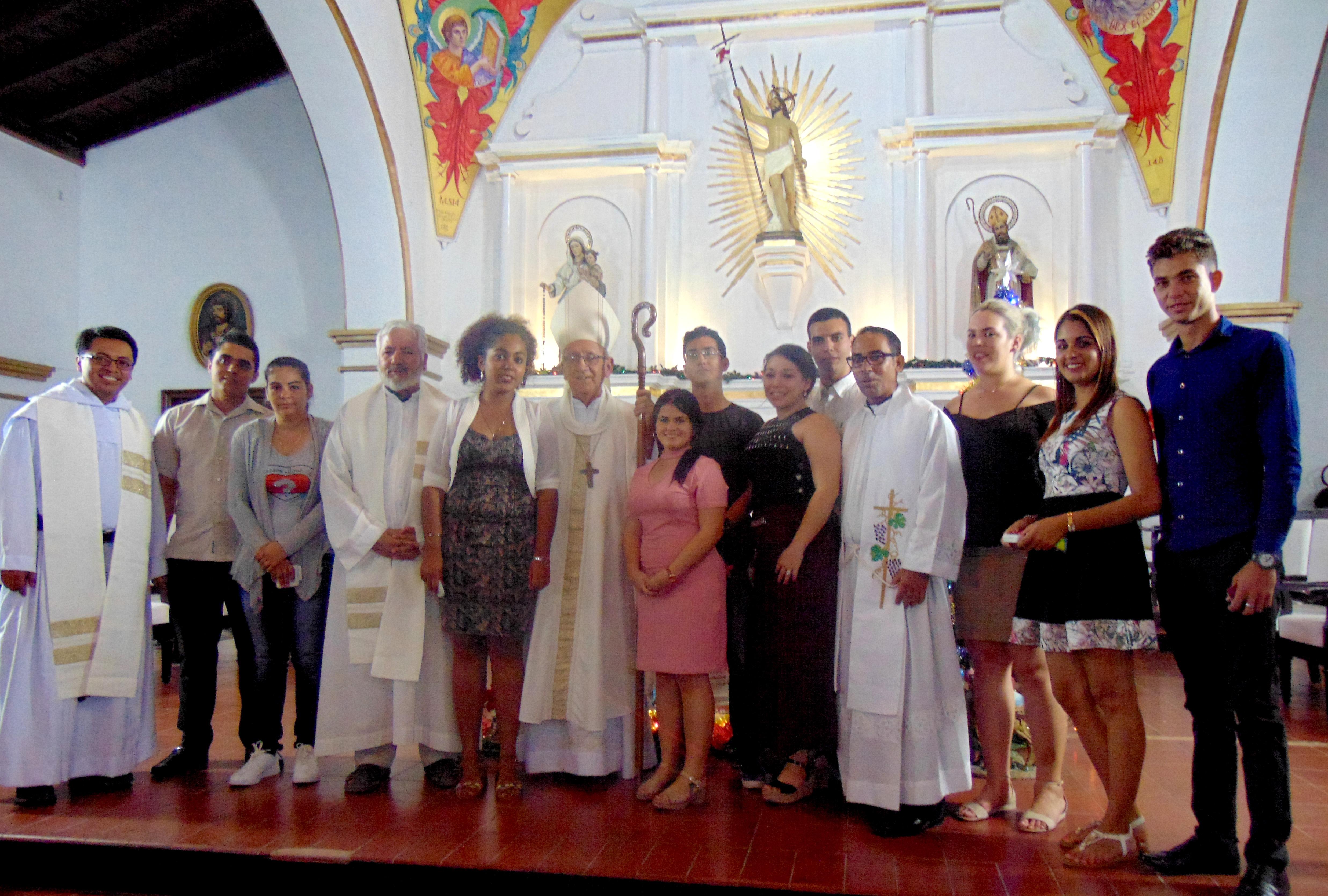 Envío de jóvenes de la Diócesis de Holguín, Cuba, a la JMJ de Panamá © Maria Luisa Pérez Galvez