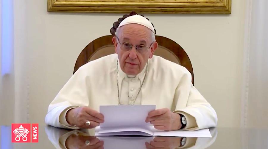 Captura de pantalla Vatican Media