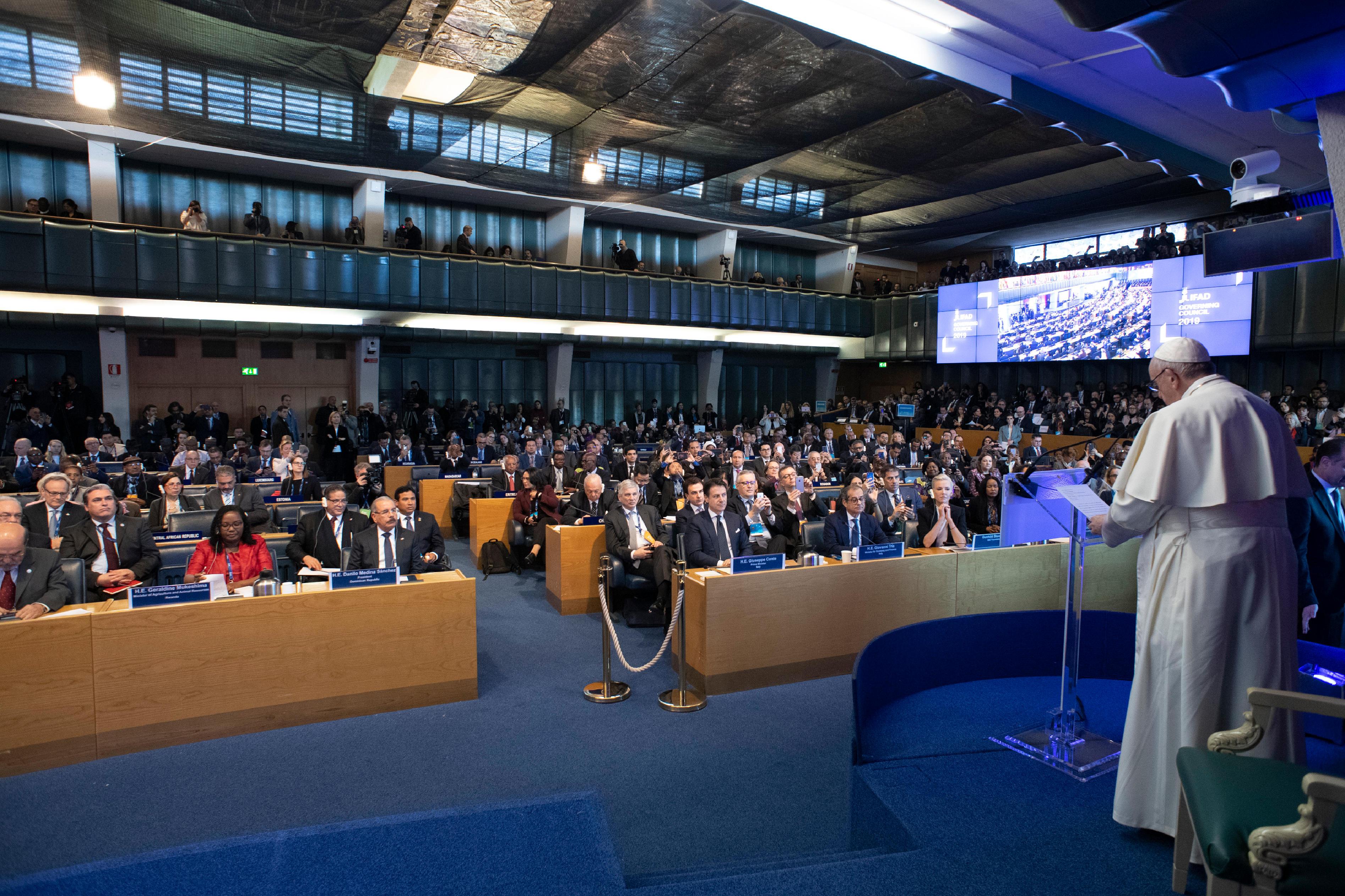 Discurso del Papa Francisco en la sede de la FAO © Vatican Media