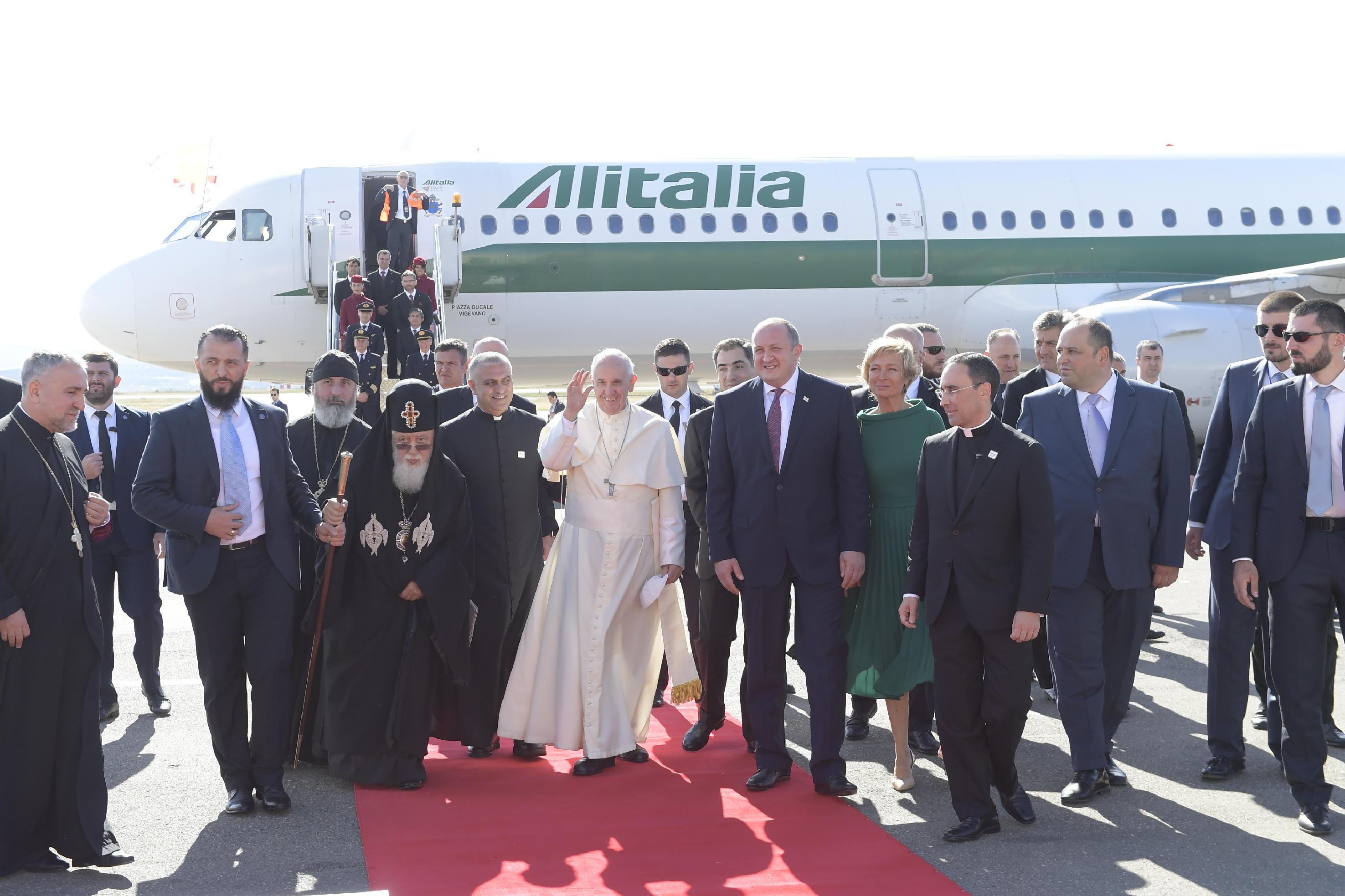 El Papa, en uno de sus viajes internacionales © Vatican Media
