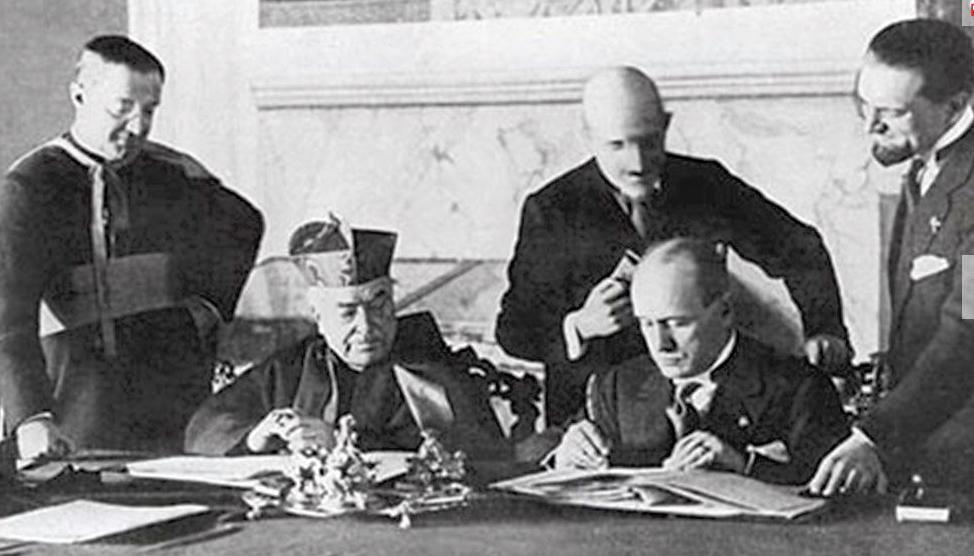 Firma de los Pactos de Letrán, 11 febrero 1929 © Vatican Media
