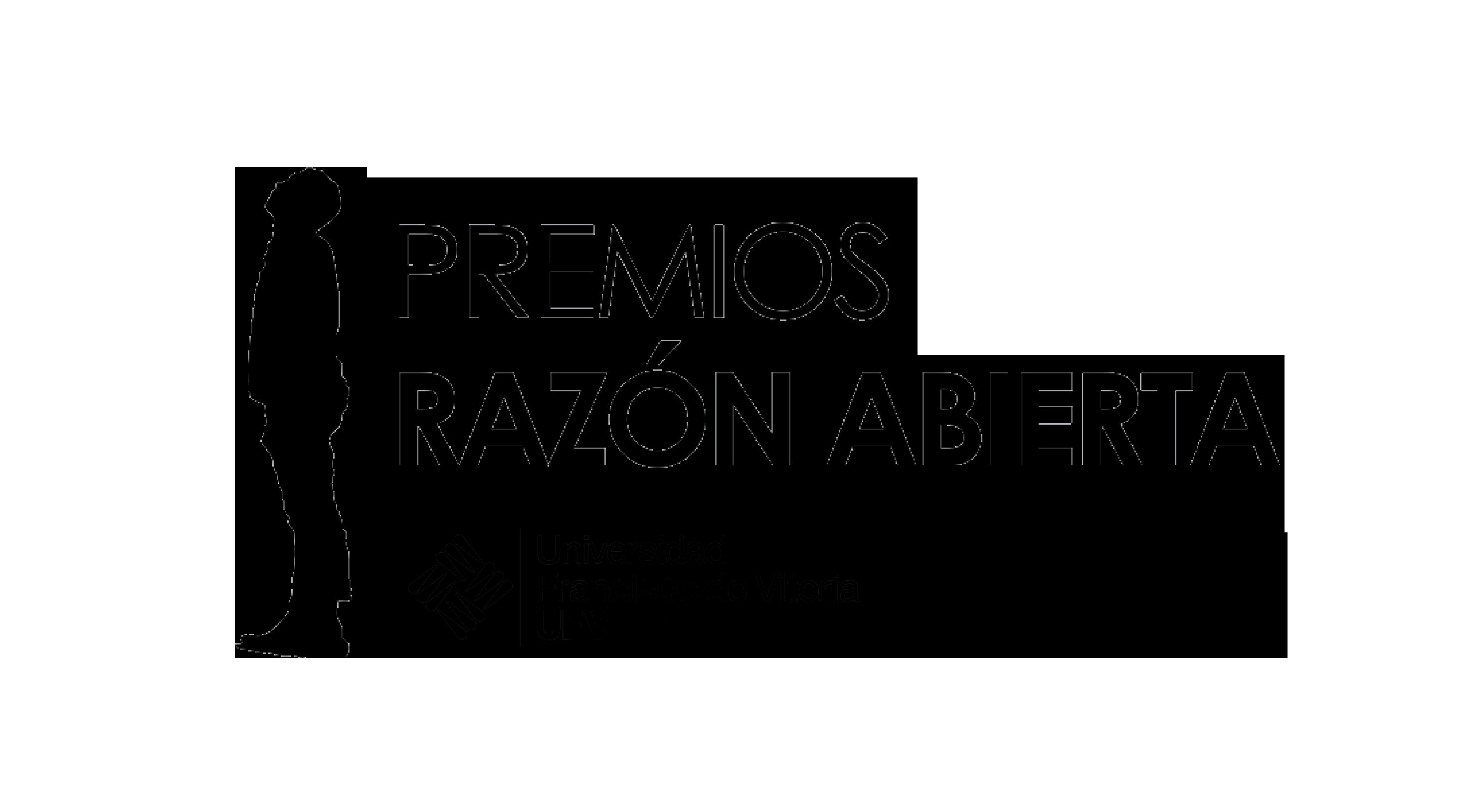 Logo Premios Razón Abierta © Univ. Francisco de Vitoria