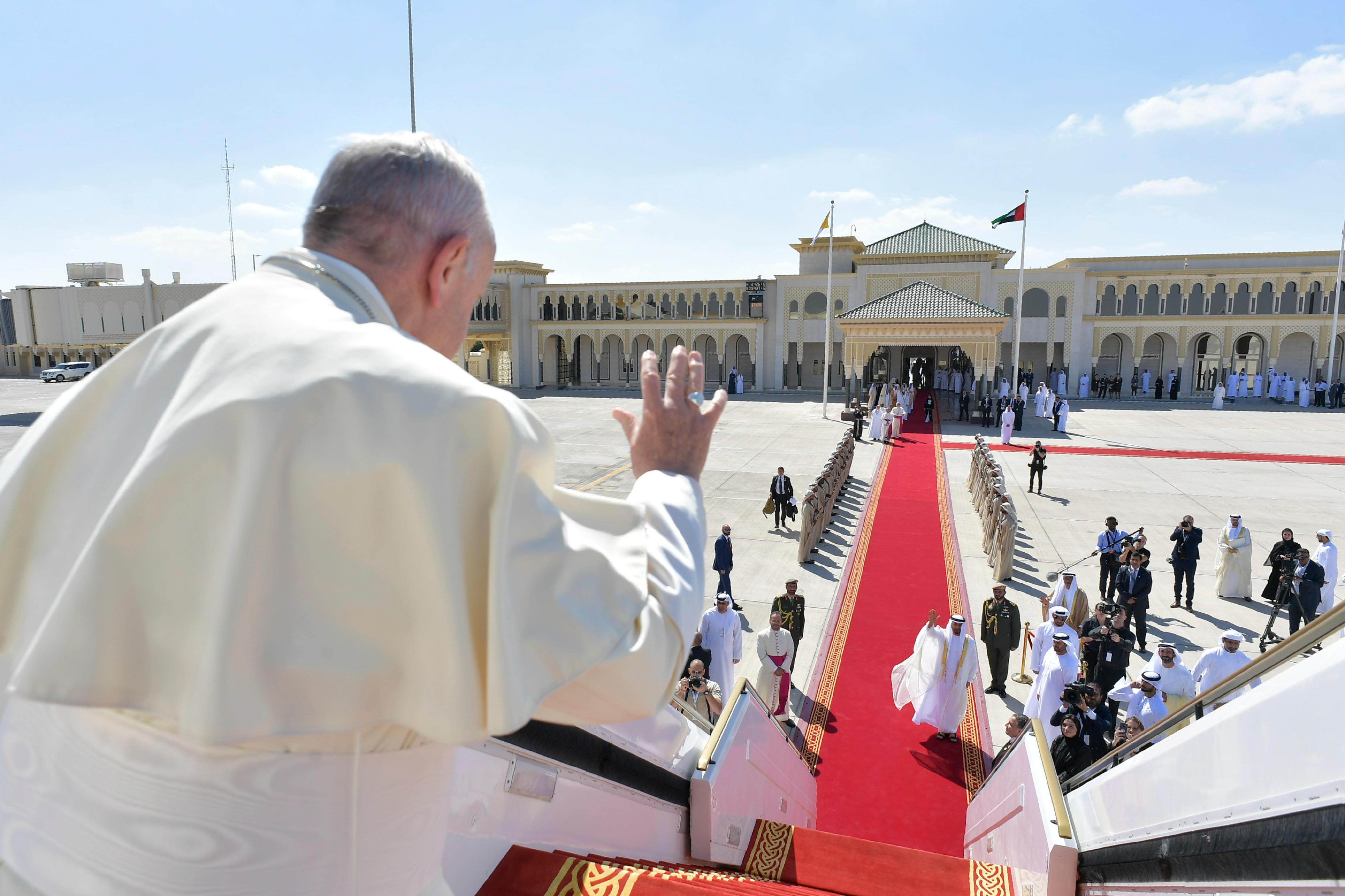 Despedida del Papa Francisco en el Aeropuerto de Abu Dhabi, 5 feb. 2019 © Vatican Media