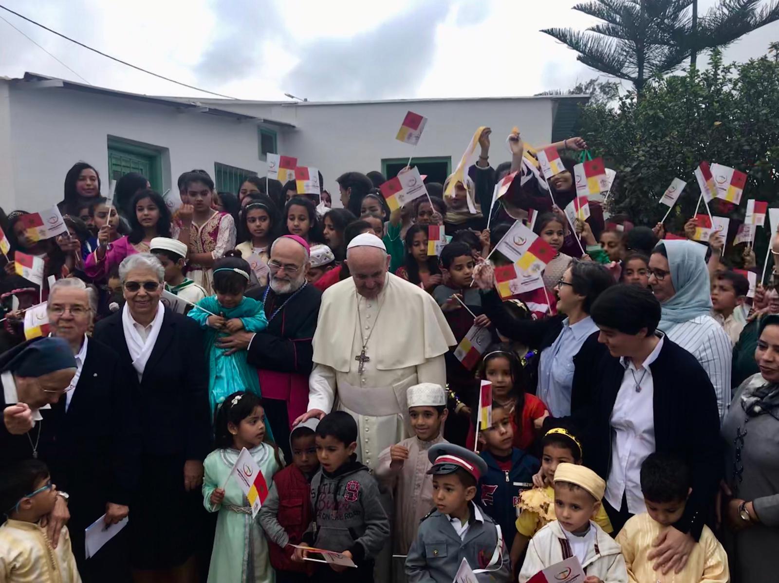 El Papa en el Centro Rural de Servicios Sociales de Temara, Marruecos © Vatican Media