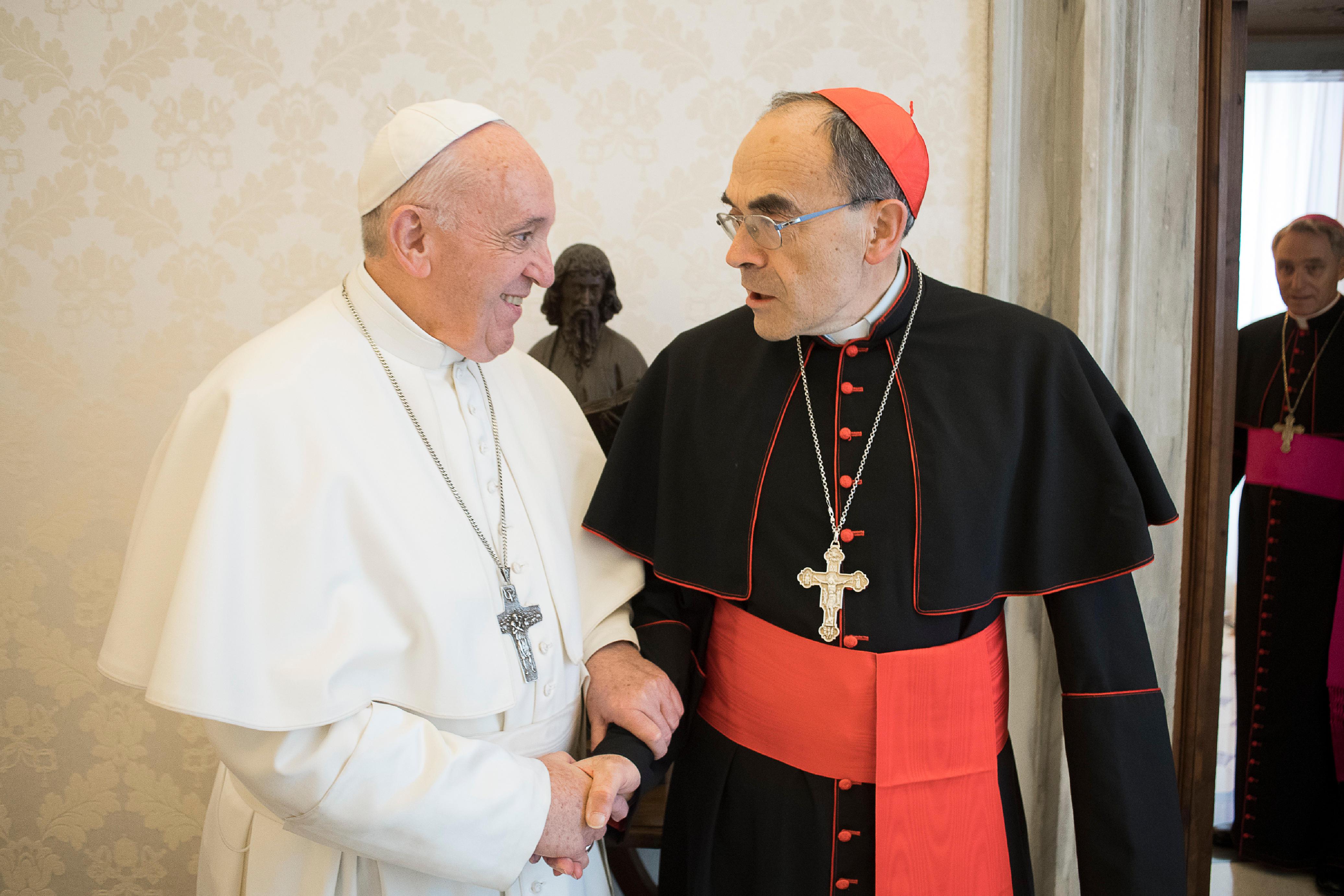 Francisco recibe al Cardenal Barbarin, 18 marzo 2019 © Vatican Media
