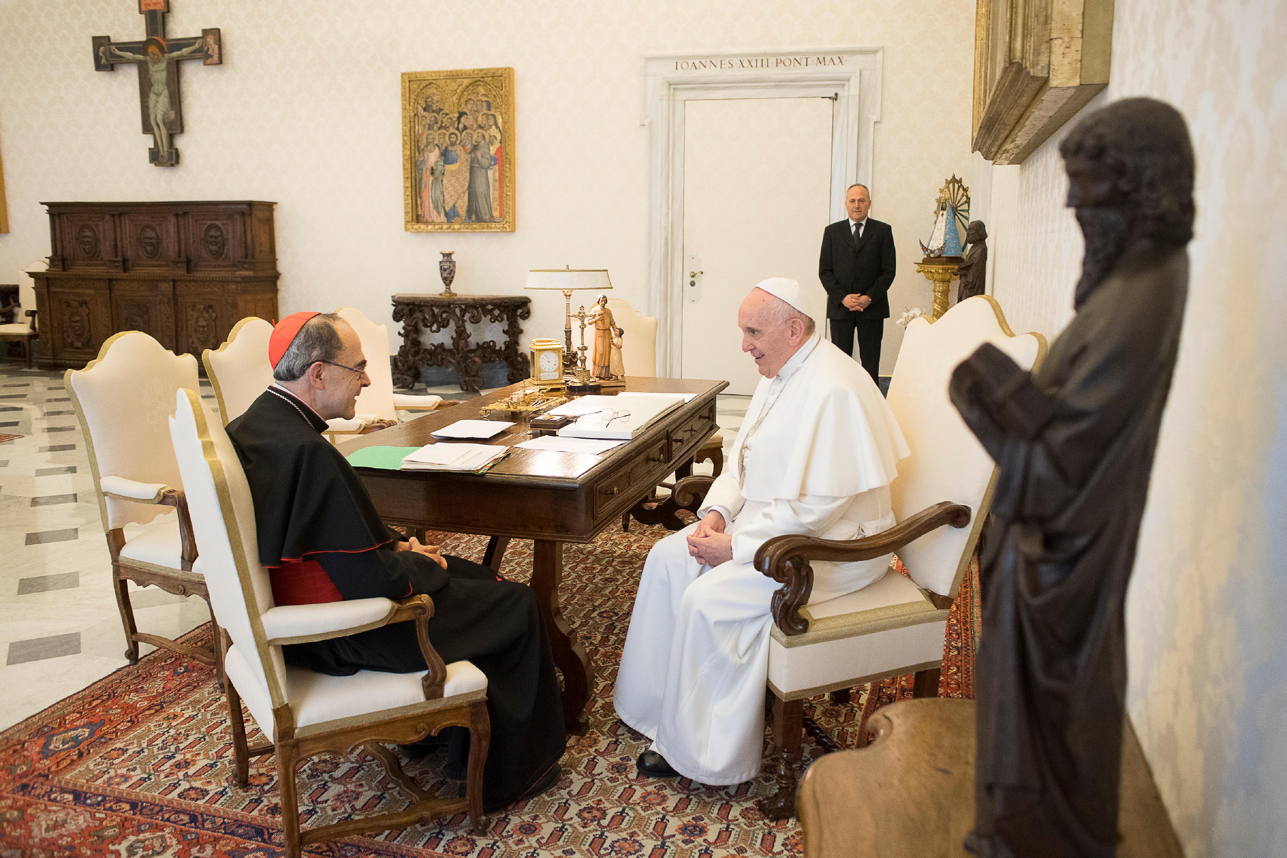 Cardenal Barbarin, 18 de marzo de 2019 © Vatican Media