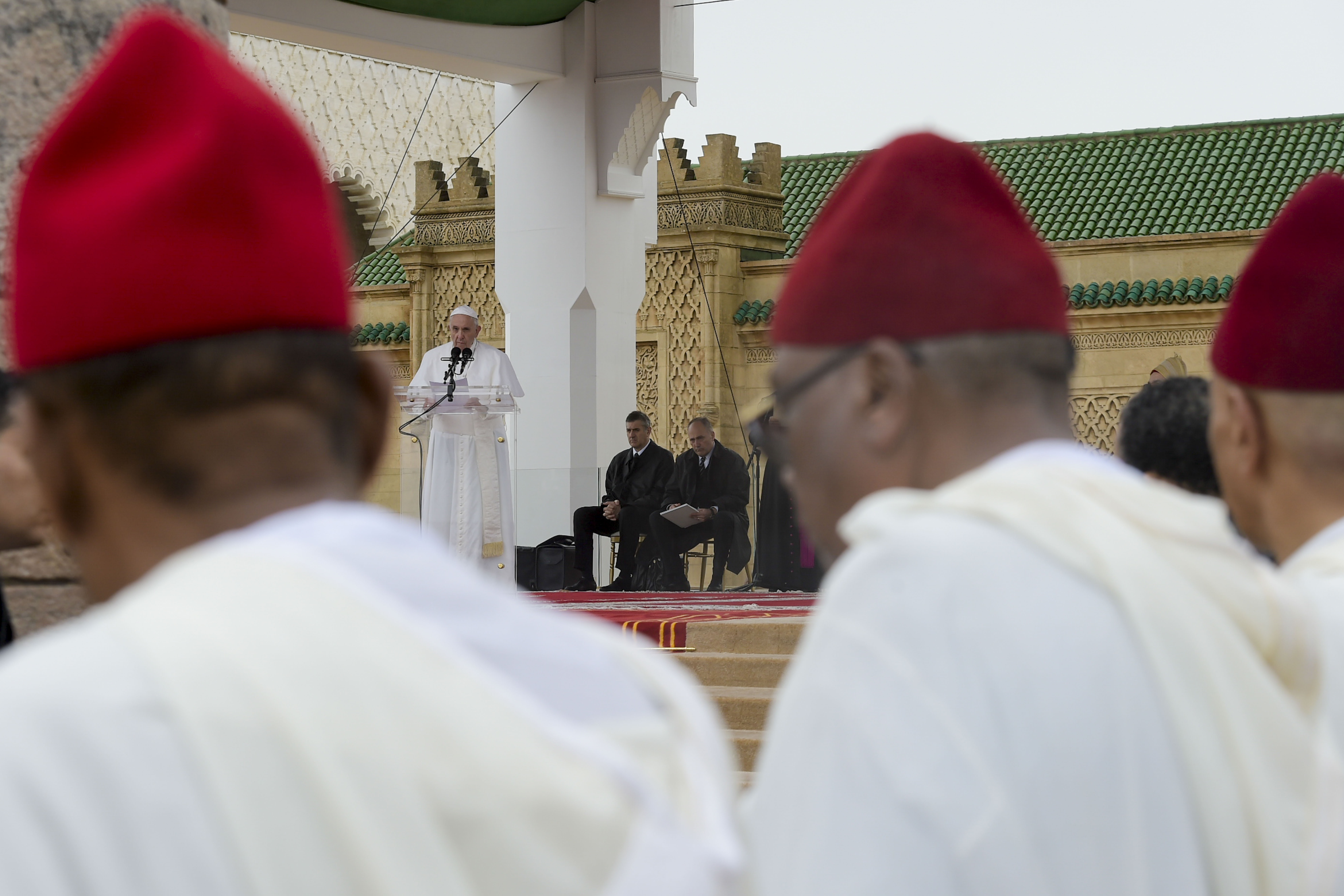 Discurso del Papa a las autoridades marroquíes en Rabat © Vatican Media