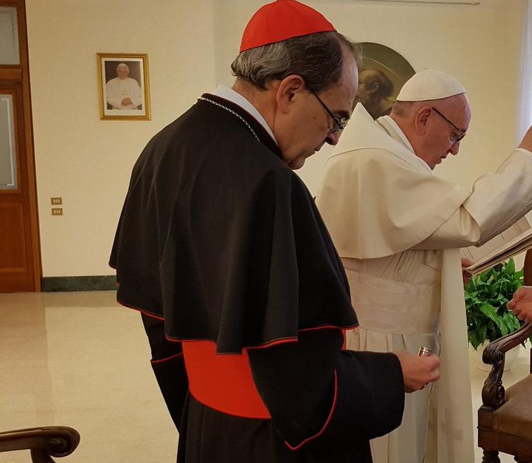 El Cardenal Barbarin en el Vaticano © Vatican Media