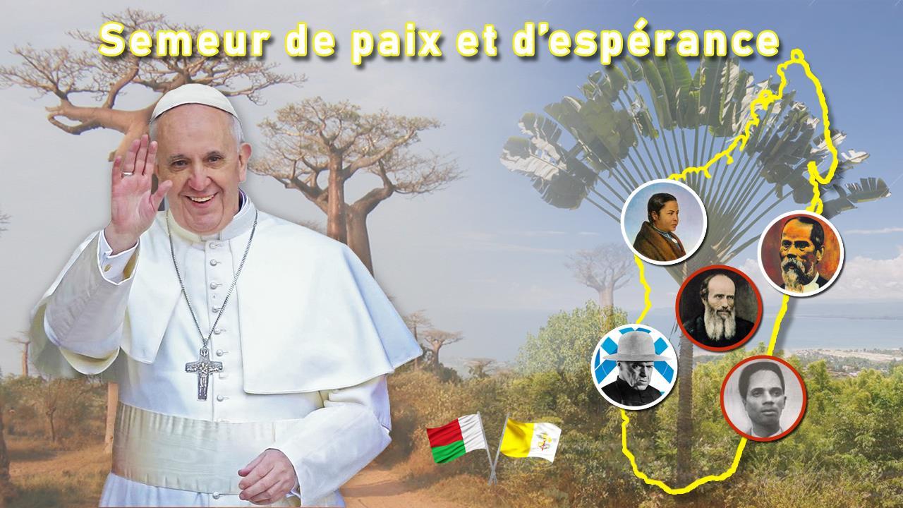 Logo oficial del viaje del Papa a Madagascar, en septiembre de 2019