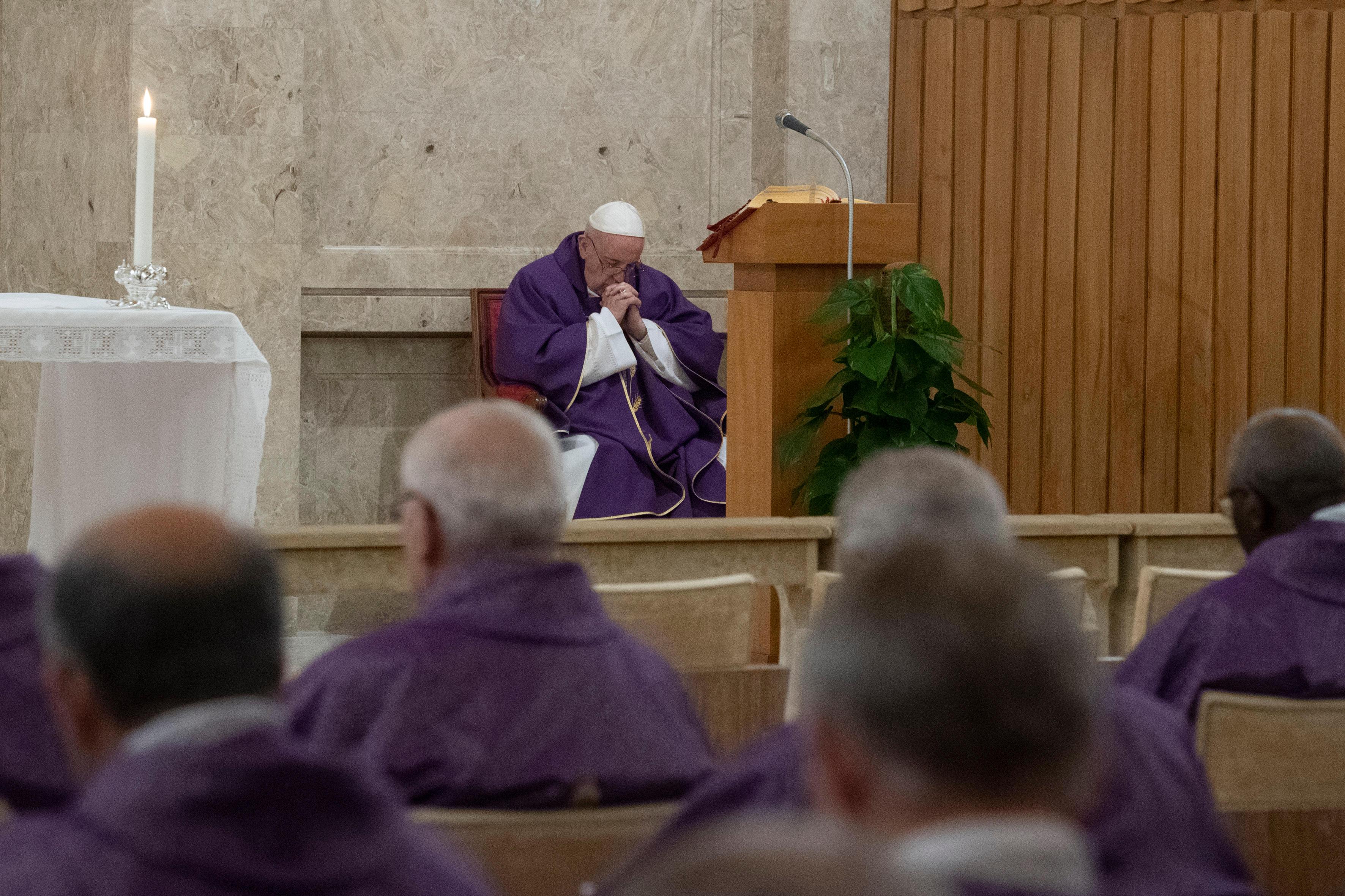 Oración del Papa en Ariccia © Vatican Media