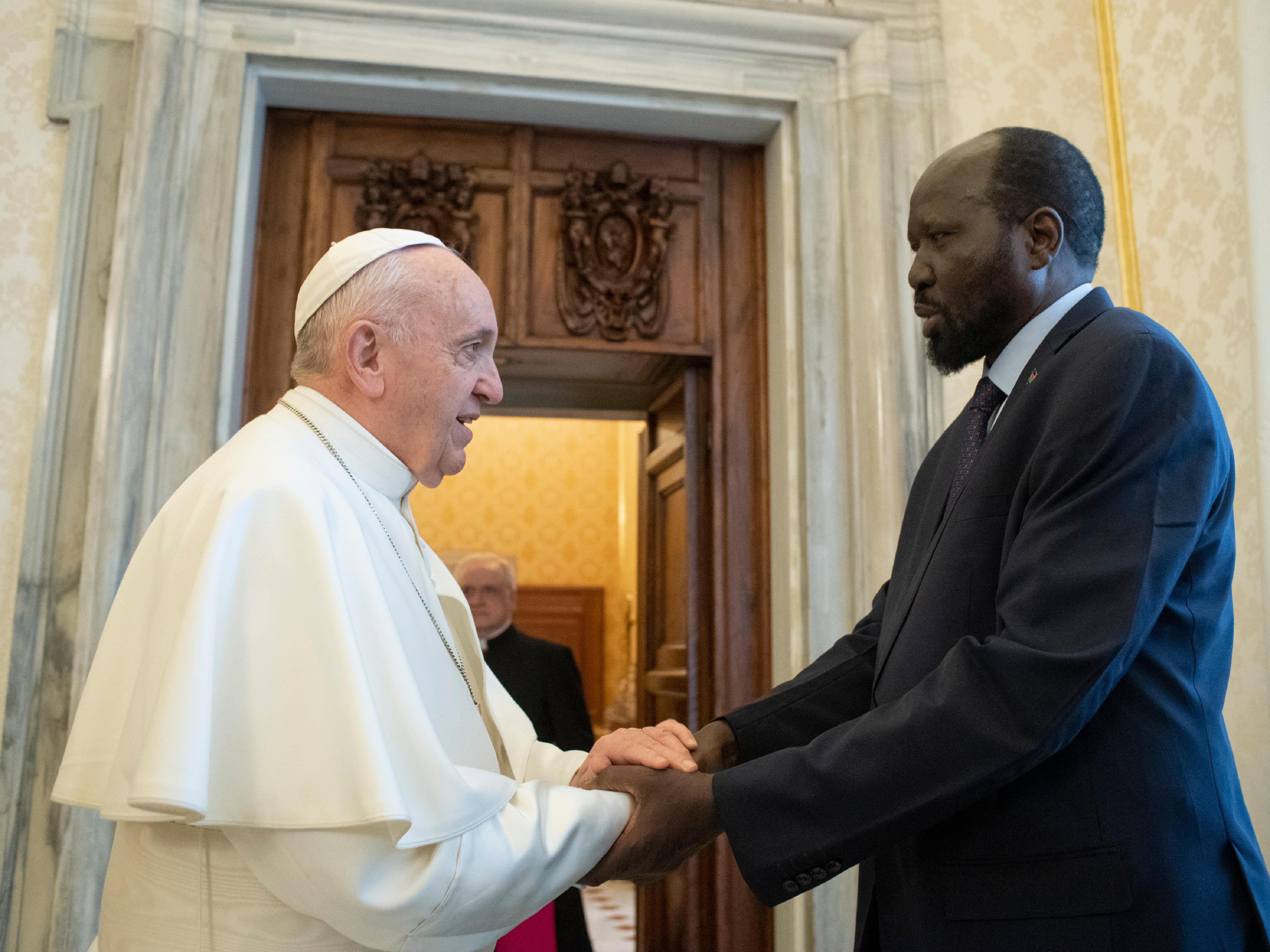 Audiencia del Papa con el Presidente de Sudán del Sur © Vatican Media