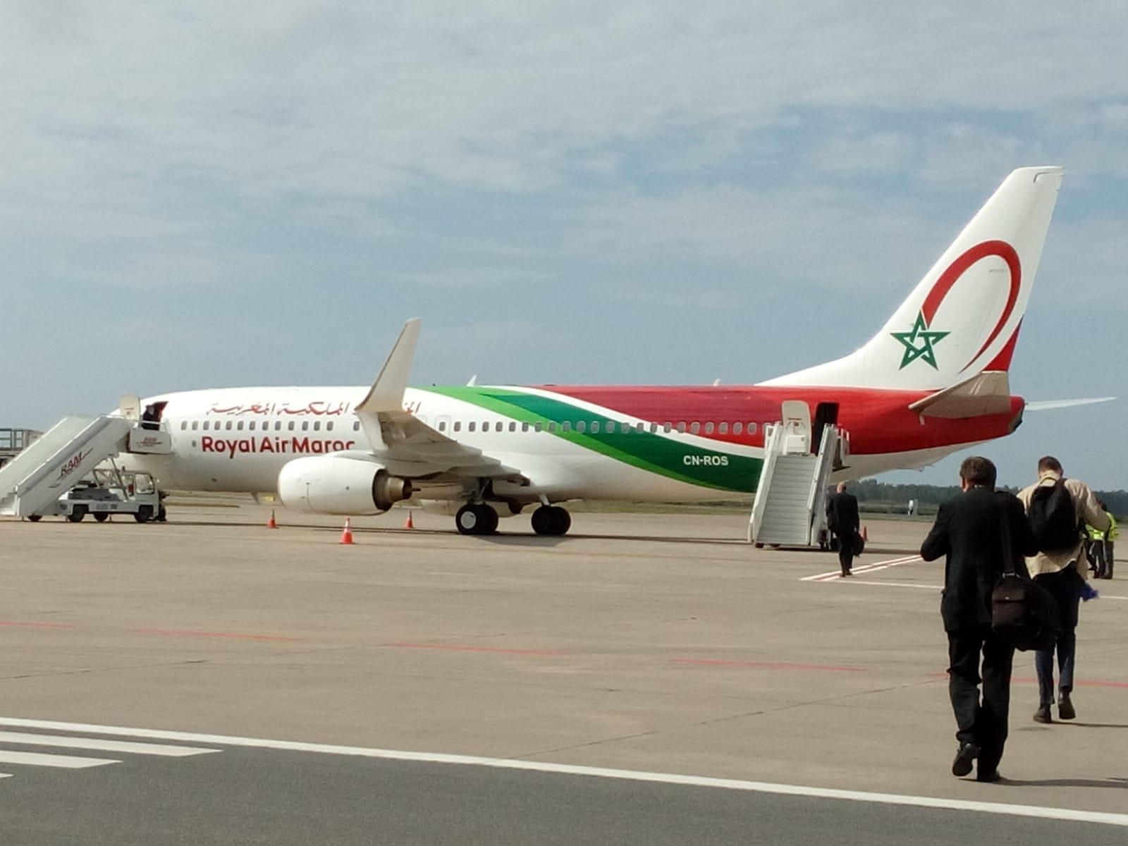 Avión que lleva al Papa Francisco de Rabat a Roma © Zenit/Anita Bourdin
