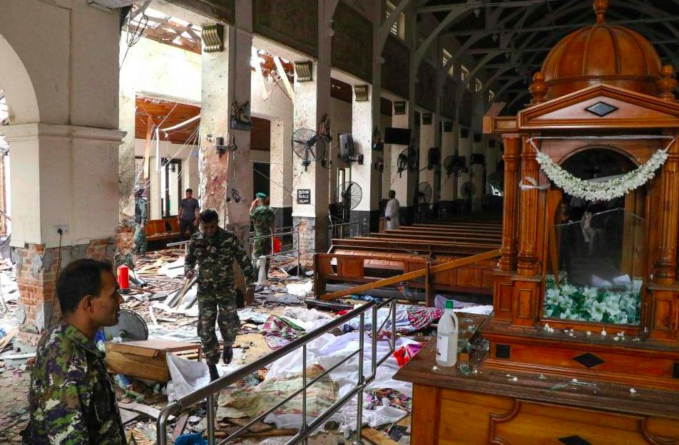 Iglesia en Sri Lanka, lugar de uno de los atentados. Twitter