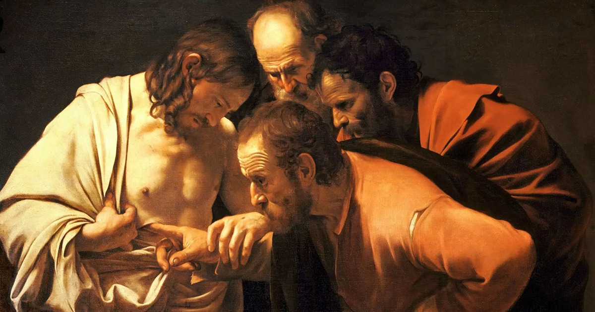 La incredulidad de Santo Tomás, Caravaggio. Wikimedia