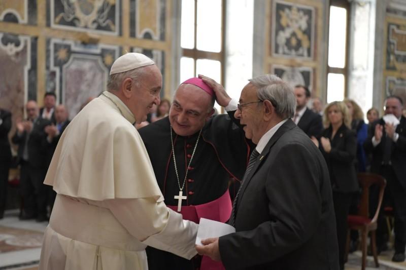 Francisco ha recibido a la Archicofradía de la Virgen de la Cinta, de España © Vatican Media