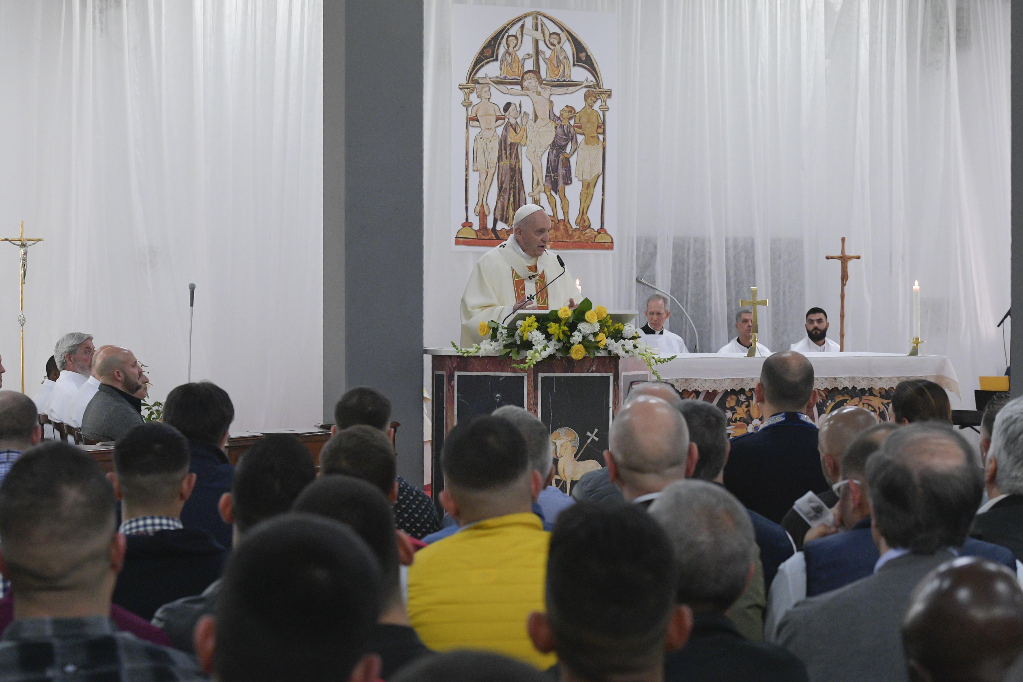 Homilía del Papa Francisco a los presos de Velletri, Roma © Vatican Media