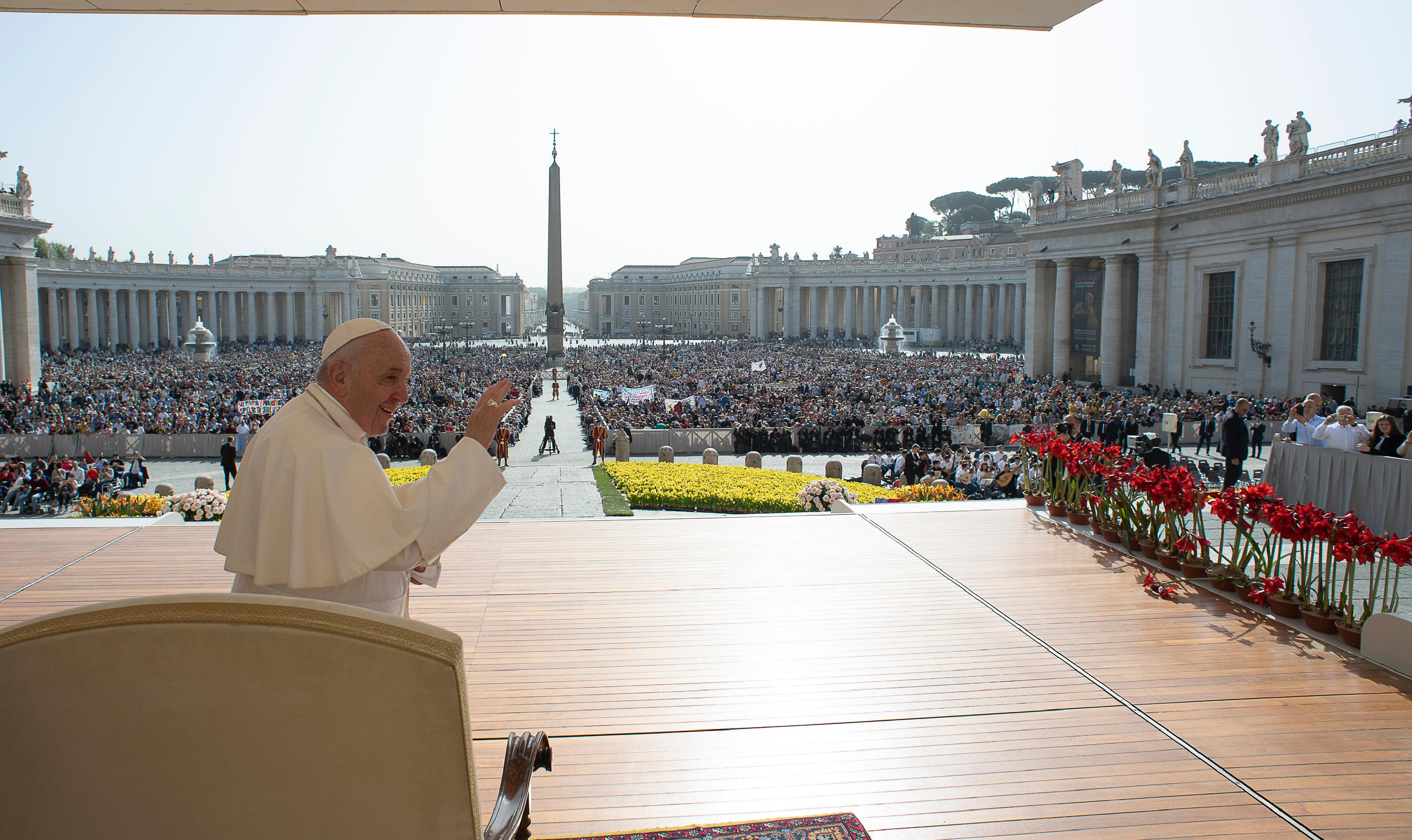 Saludo del Papa Francisco en la audiencia general, 24 abril 2019 © Vatican Media