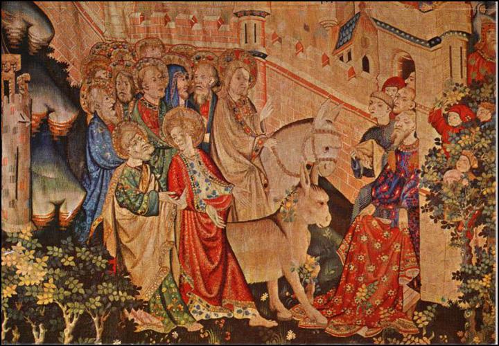 Tapiz de la Seo de Zaragoza, Cristo entrando en Jerusalén © Gozarte