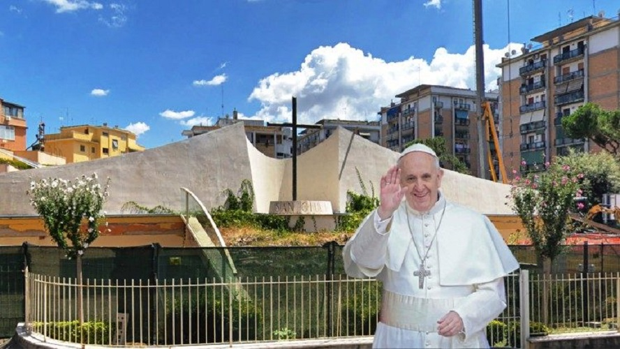 visita Parroquia San Julio en Roma © Vatican Media