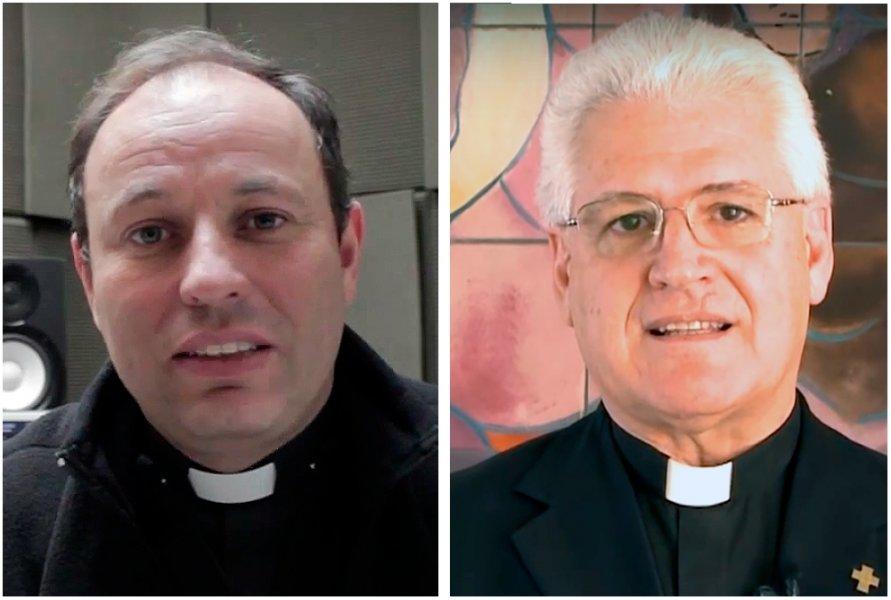 Rev. Carlos Irarrázaval y Rev. Alberto Lorenzelli © Arzobispado de Santiago
