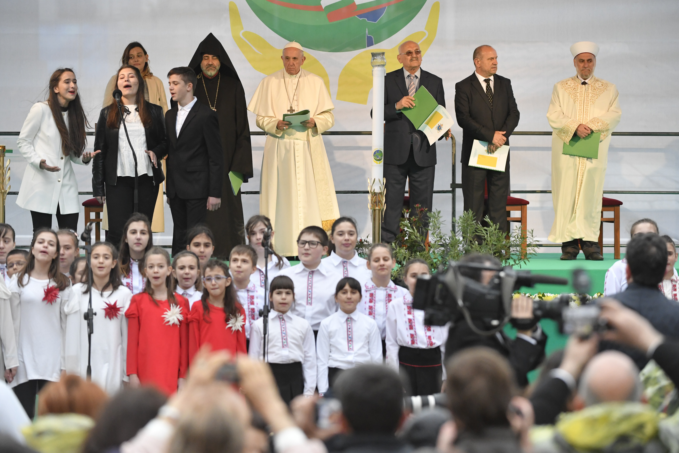 Oración ecuménica por la paz en Sofía, Bulgaria © Vatican Media