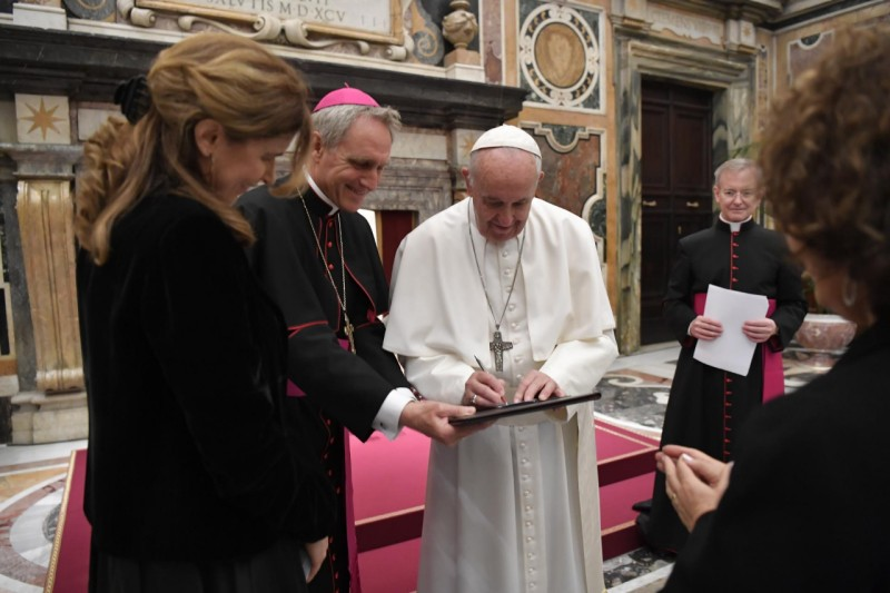 El Papa recibió a 400 corresponsales en Italia © Vatican Media