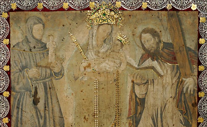 Cuadro original de la Virgen de Chiquinquirá en la Basílica homónima, Colombia © Opus Dei