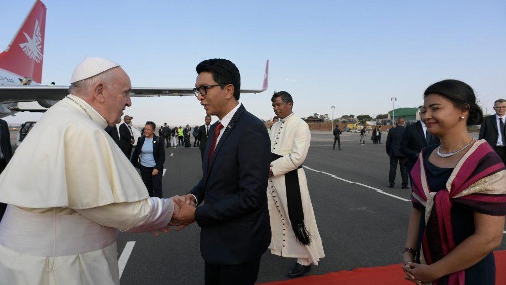 El Papa llega a Madagascar © Vatican News
