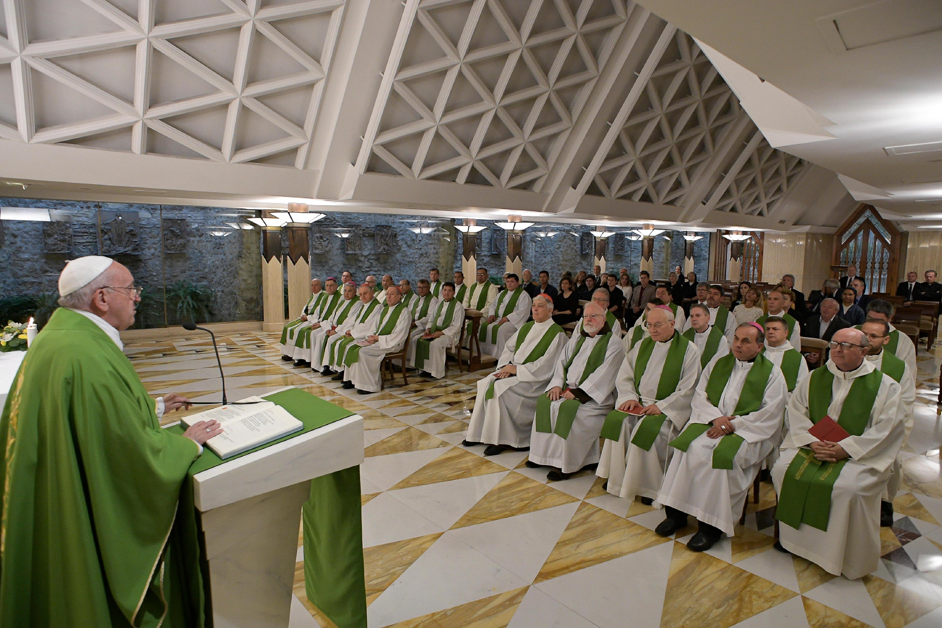 Misa del Papa en Santa Marta, 19 sept. 2019 © Vatican Media