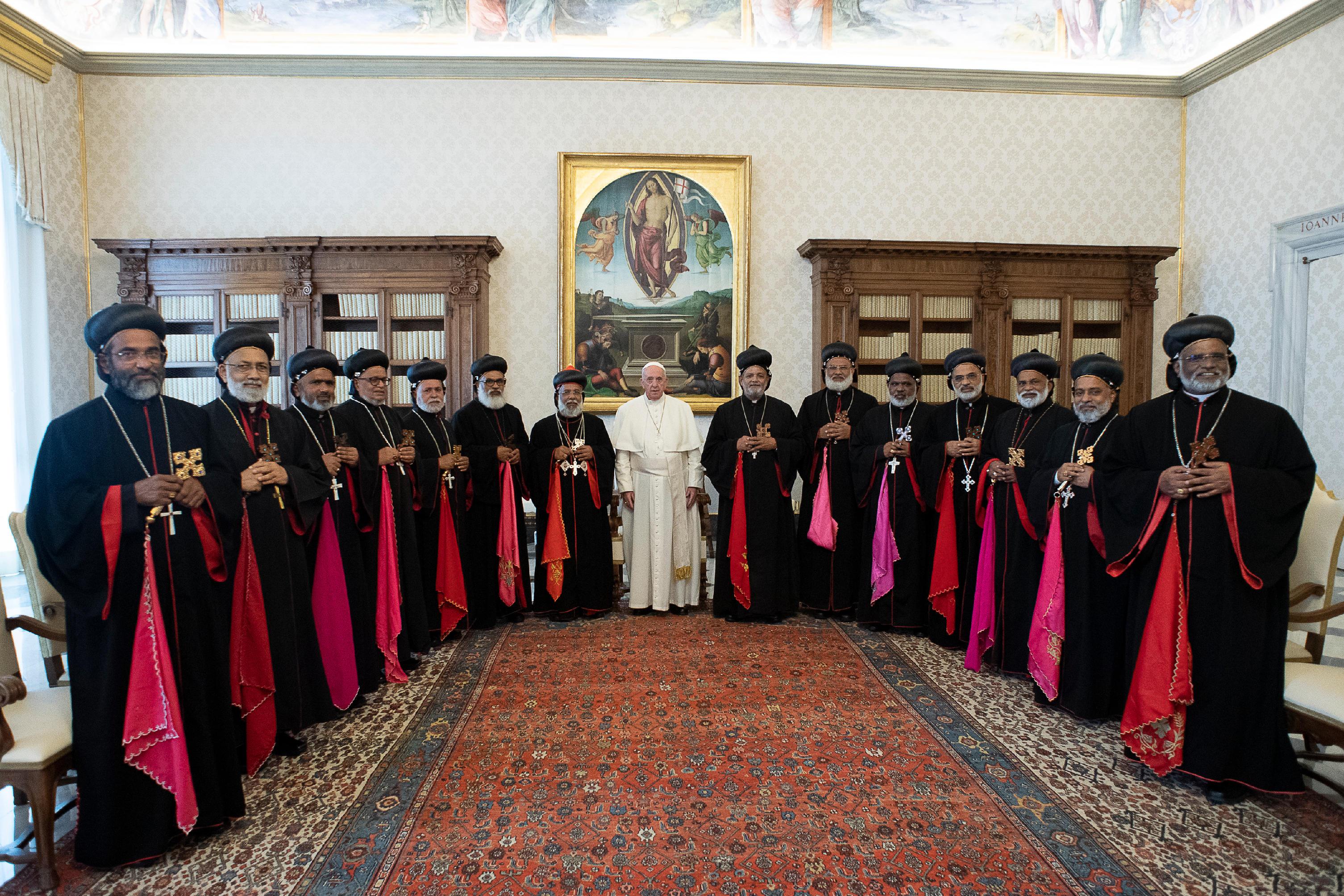 Visita ad Limina de los obispos Siro-Malankares © Vatican Media