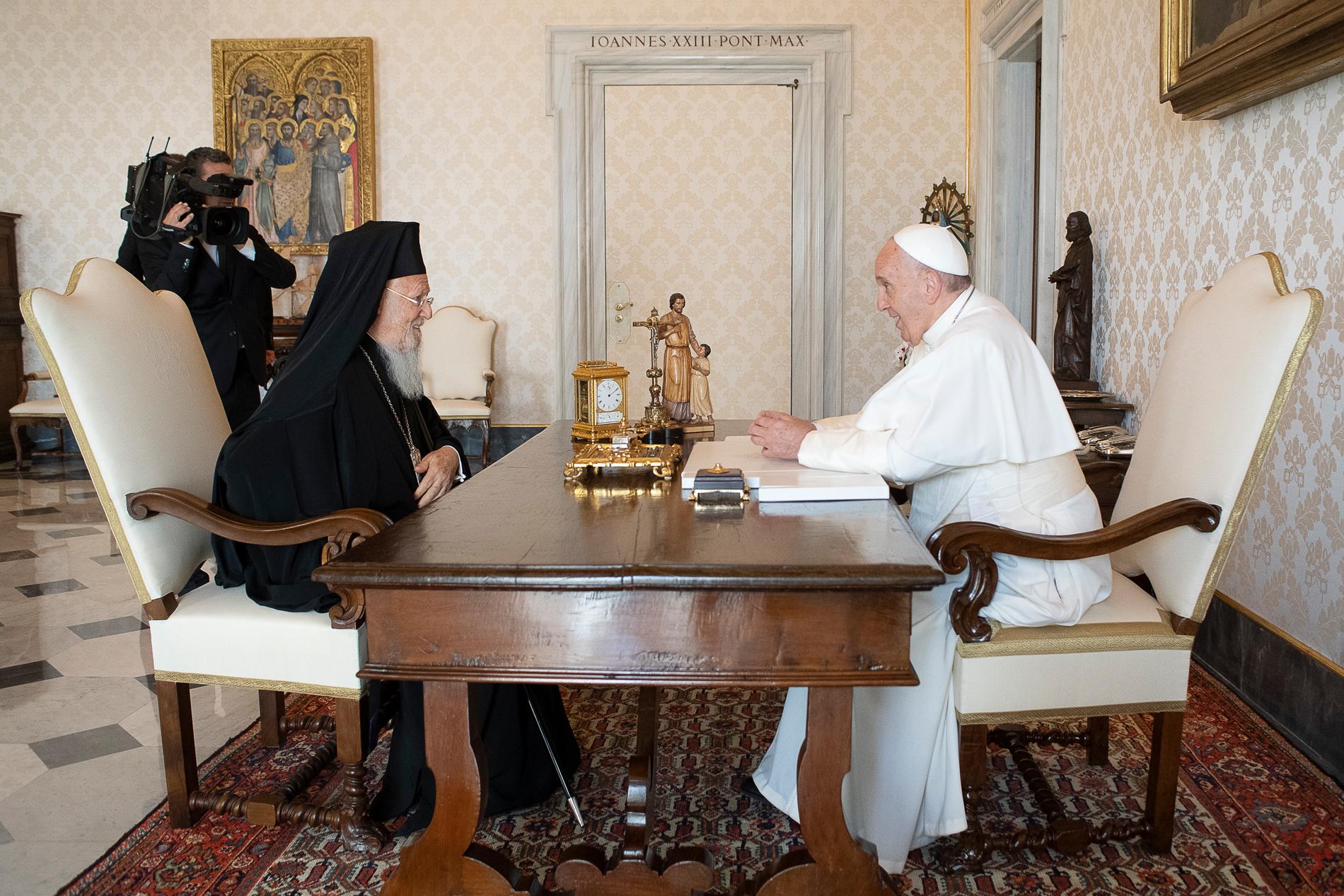 Encuentro del Papa Francisco con el Patriarca Bartolomé I © Vatican Media